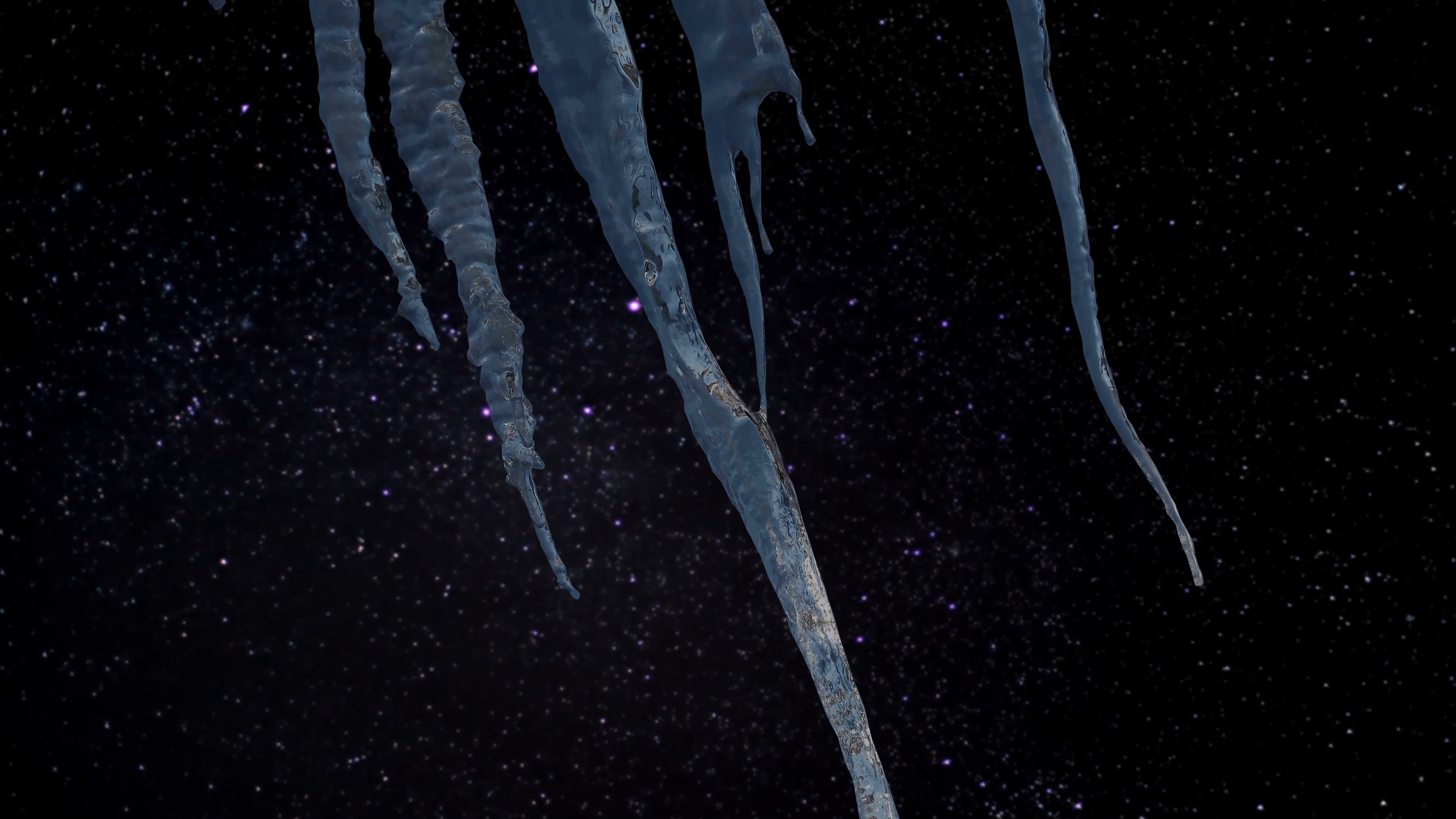 3840x2160 Timelapse - Icicles with a blurry starry night in the background Motion  Background - VideoBlocks