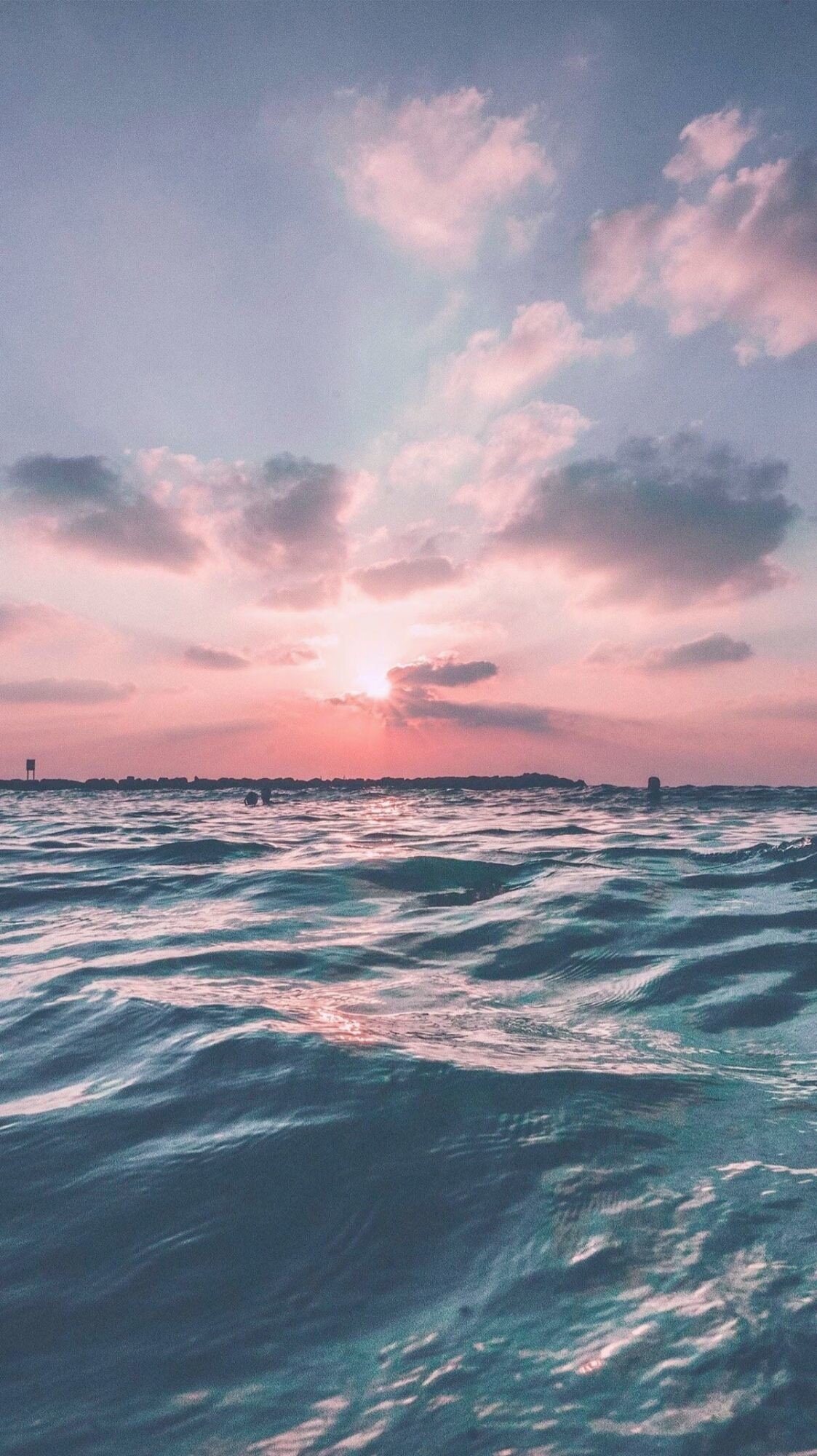 1123x2000 Filter: Cherry 90% #GirlsCam #sky #sea #sunrise #beautiful #cloud #wave  #photography #camera