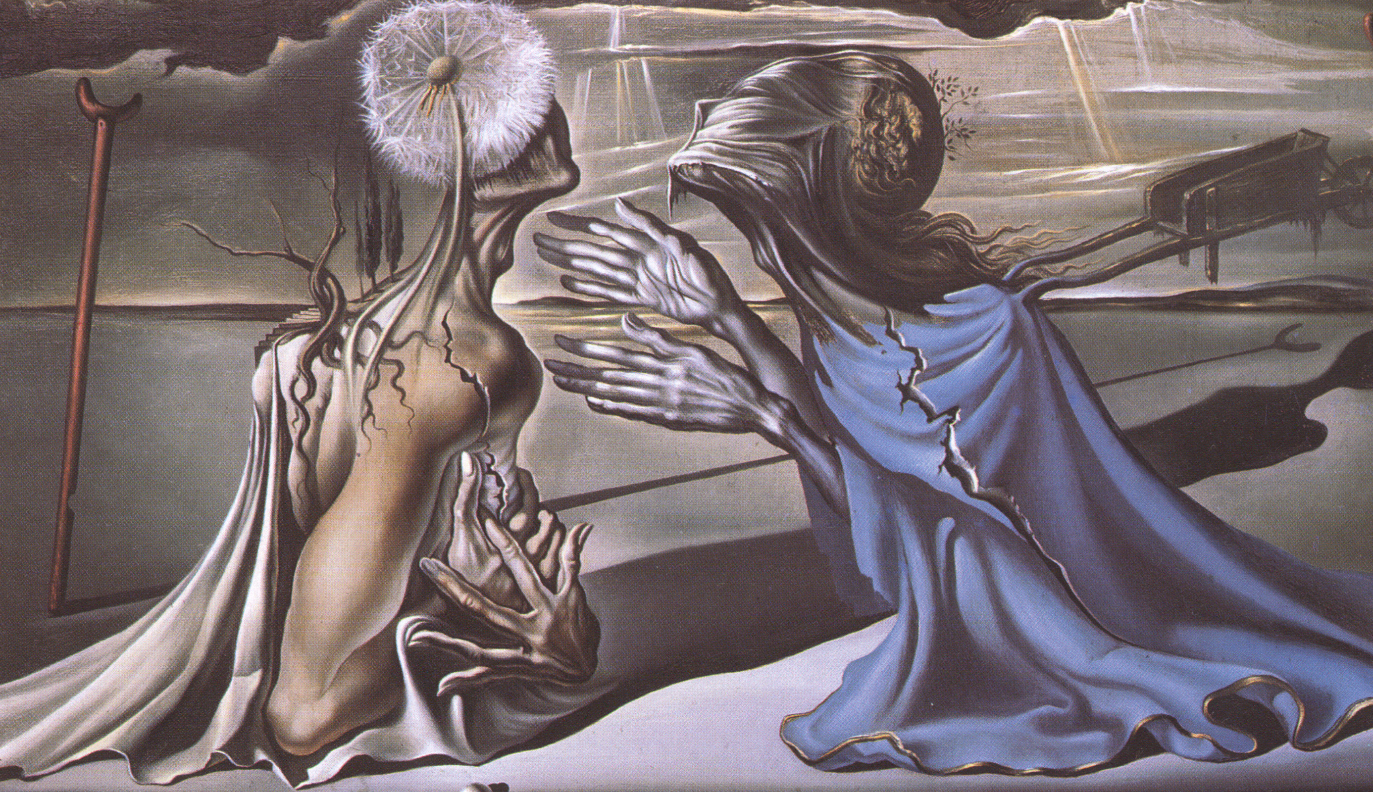 2773x1600 Salvador Dali Oil Painting - Tristan and Isolde