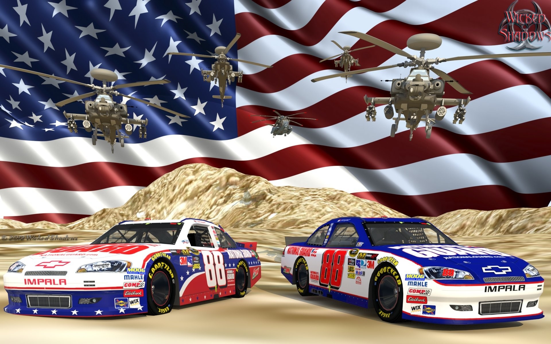 1920x1200 Dale Earnhardt Jr National Guard ...