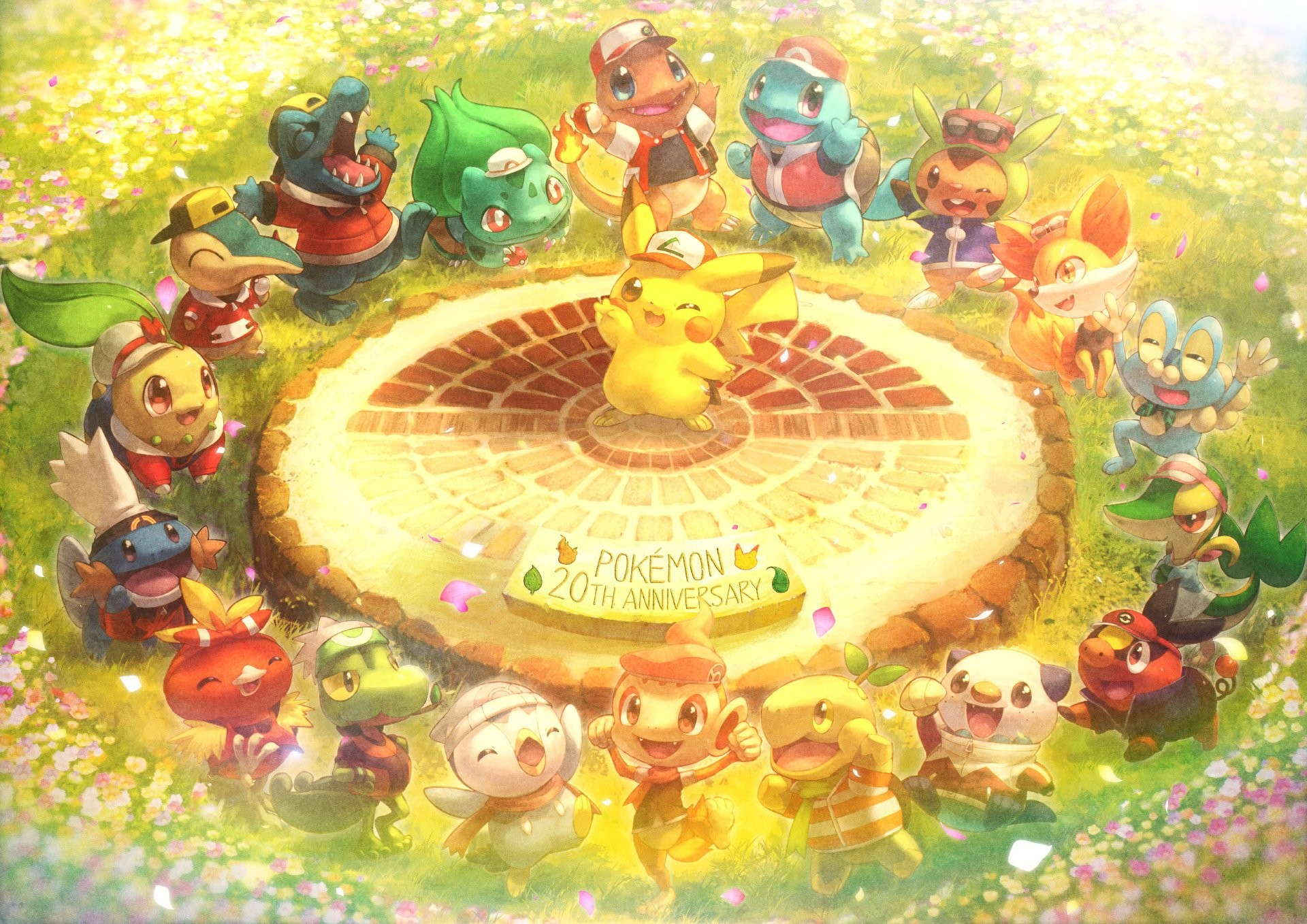 1920x1358 chespin chimchar cosplay fennekin froakie mudkip oshawott pikachu piplup  pokemon snivy squirtle tepig toitoi508 torchic totodile