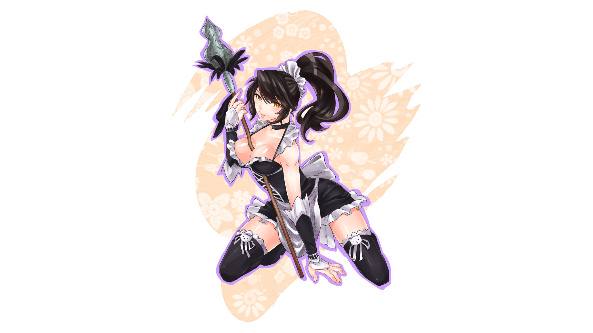 2062x1160 French Maid Nidalee by ㄒㄒ☆シシィ HD Wallpaper Fan Artwork League of Legends lol