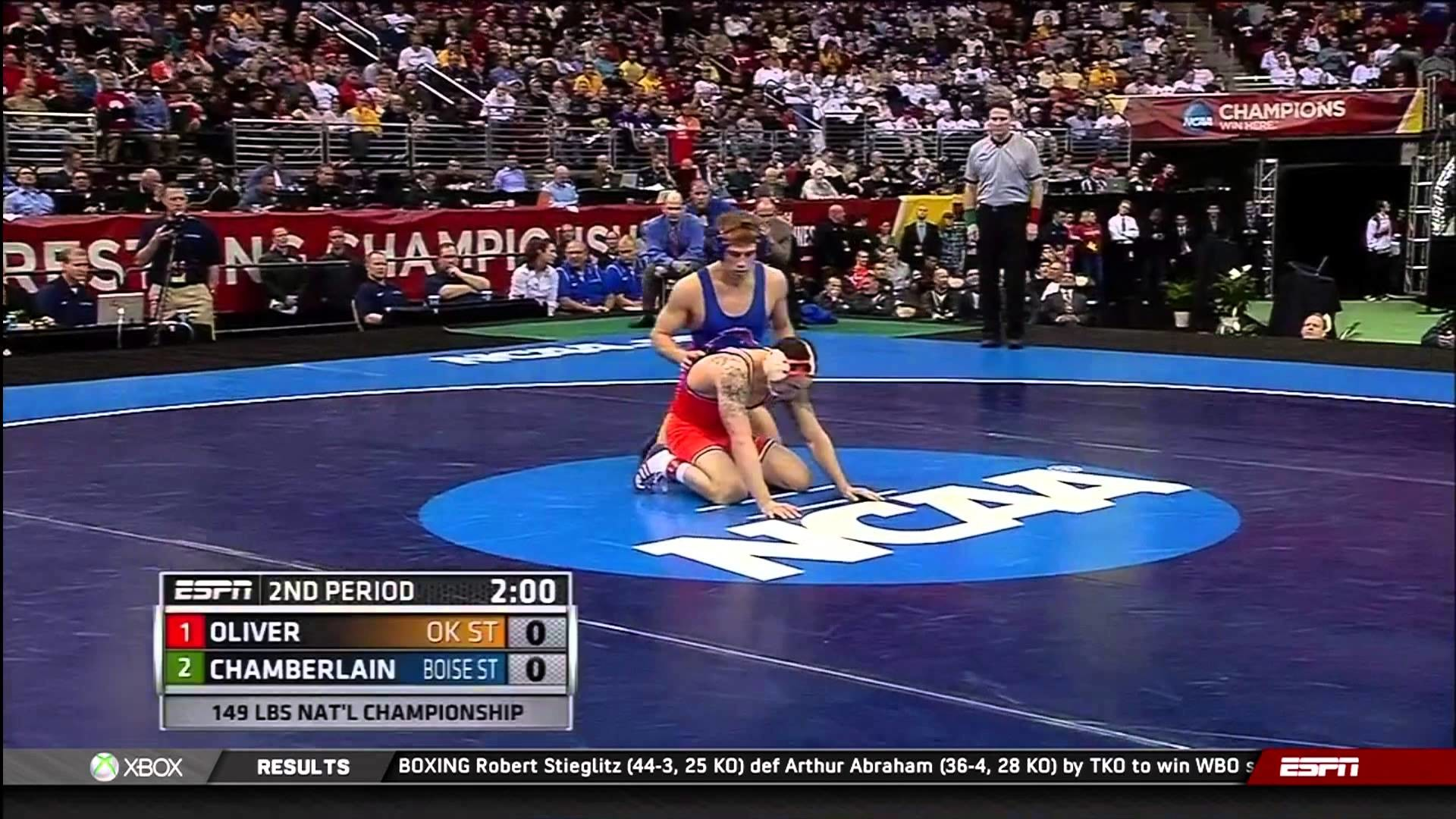 1920x1080 2013 NCAA Wrestling National Championships D1 Jordan Oliver (OSU) vs. Jason  Chamberlain (Boise) - YouTube