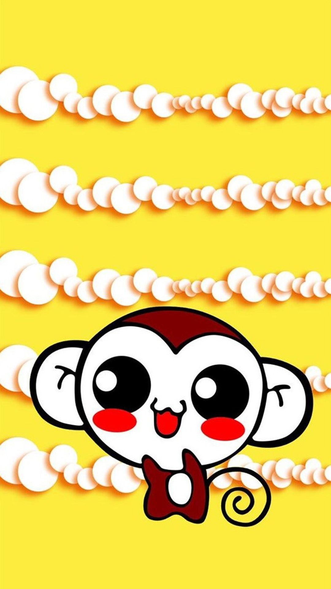 1080x1920 Cute Sweet Hippie Monkey iPhone 6 Wallpaper Download