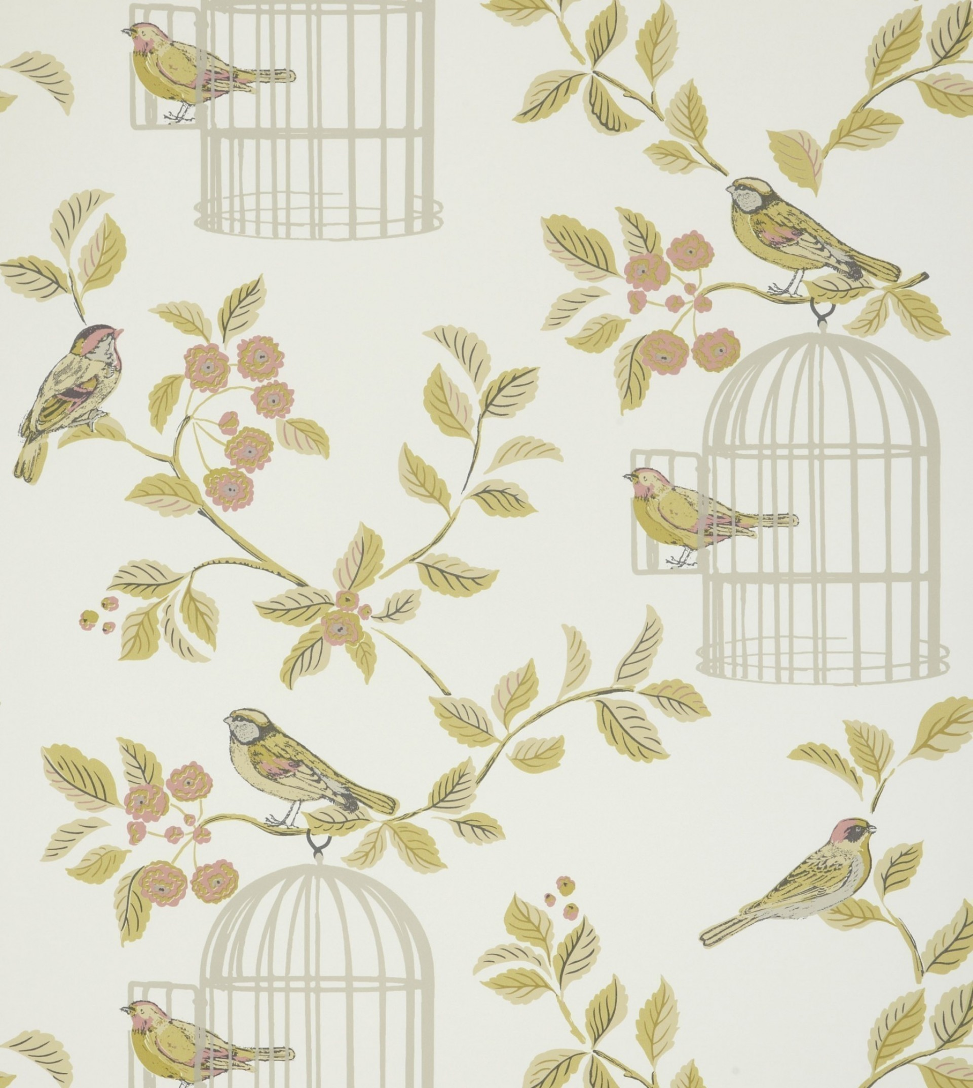 1920x2146 Shabby Chic Songbird Terracotta Wallpaper by iLiv