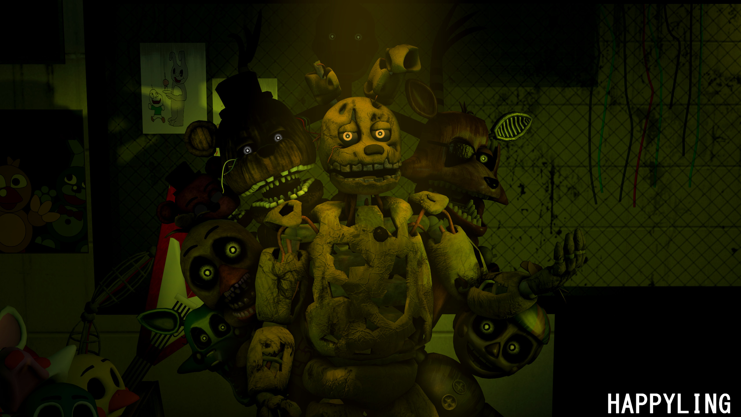 2560x1440 ... FNAF] Five nights at Freddy's 3 by Happyling