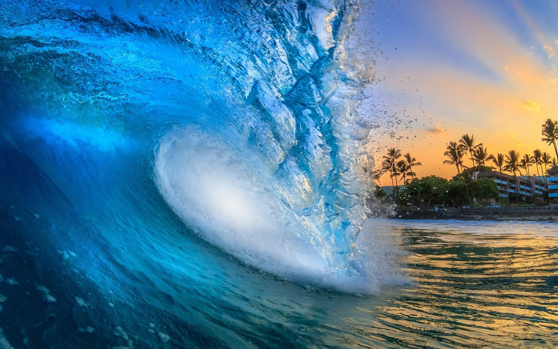 Beach waves wallpapers for desktop 55 images - Wave pics wallpaper ...
