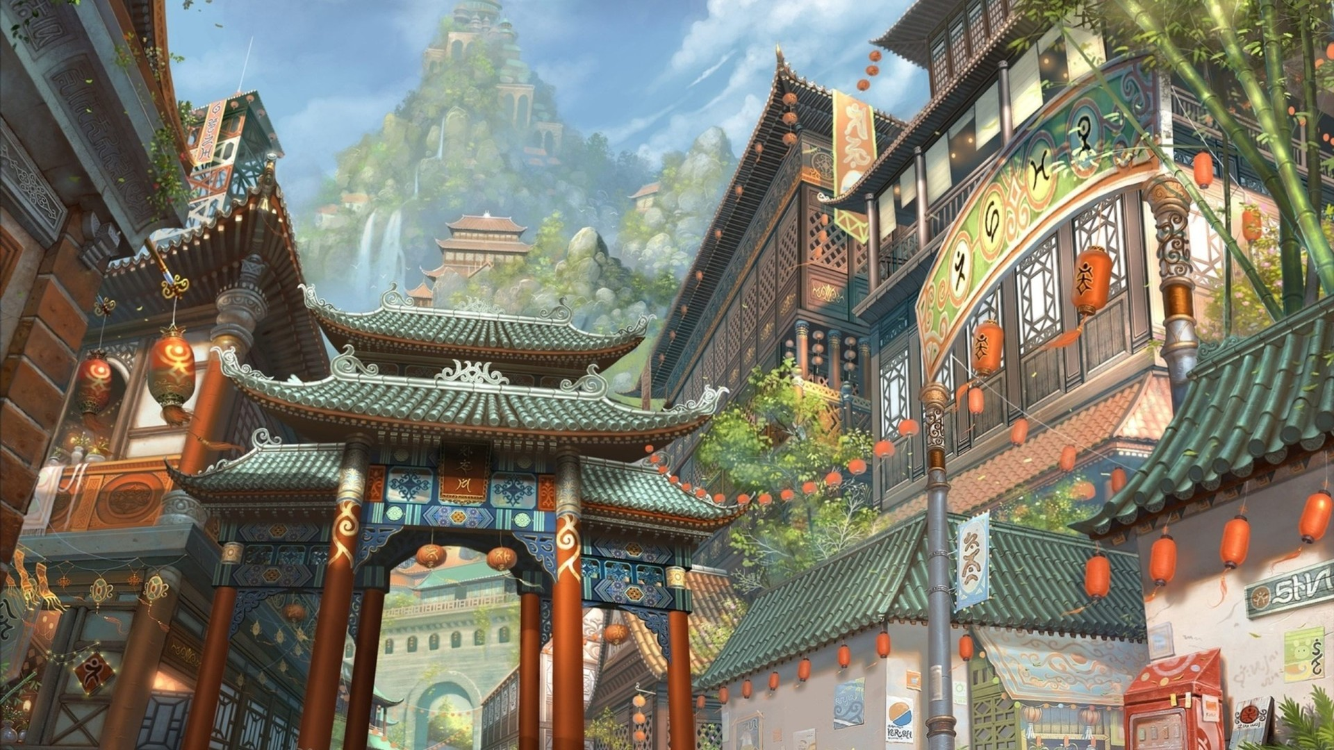 Japanese art wallpapers 64 images - Ancient chinese art wallpaper ...