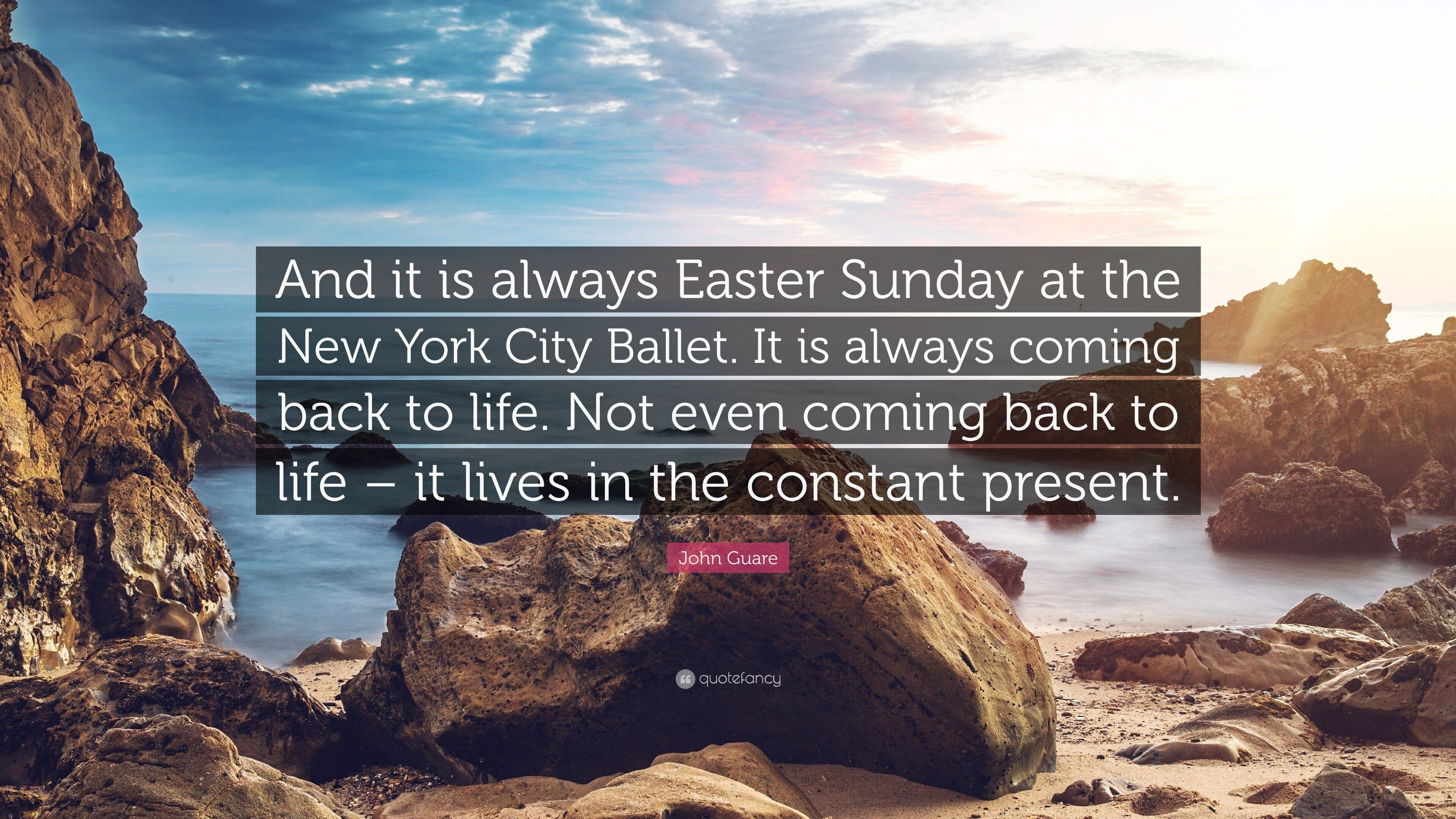 "3840x2160 John Guare Quote: ""And it is always Easter Sunday at the New York City"