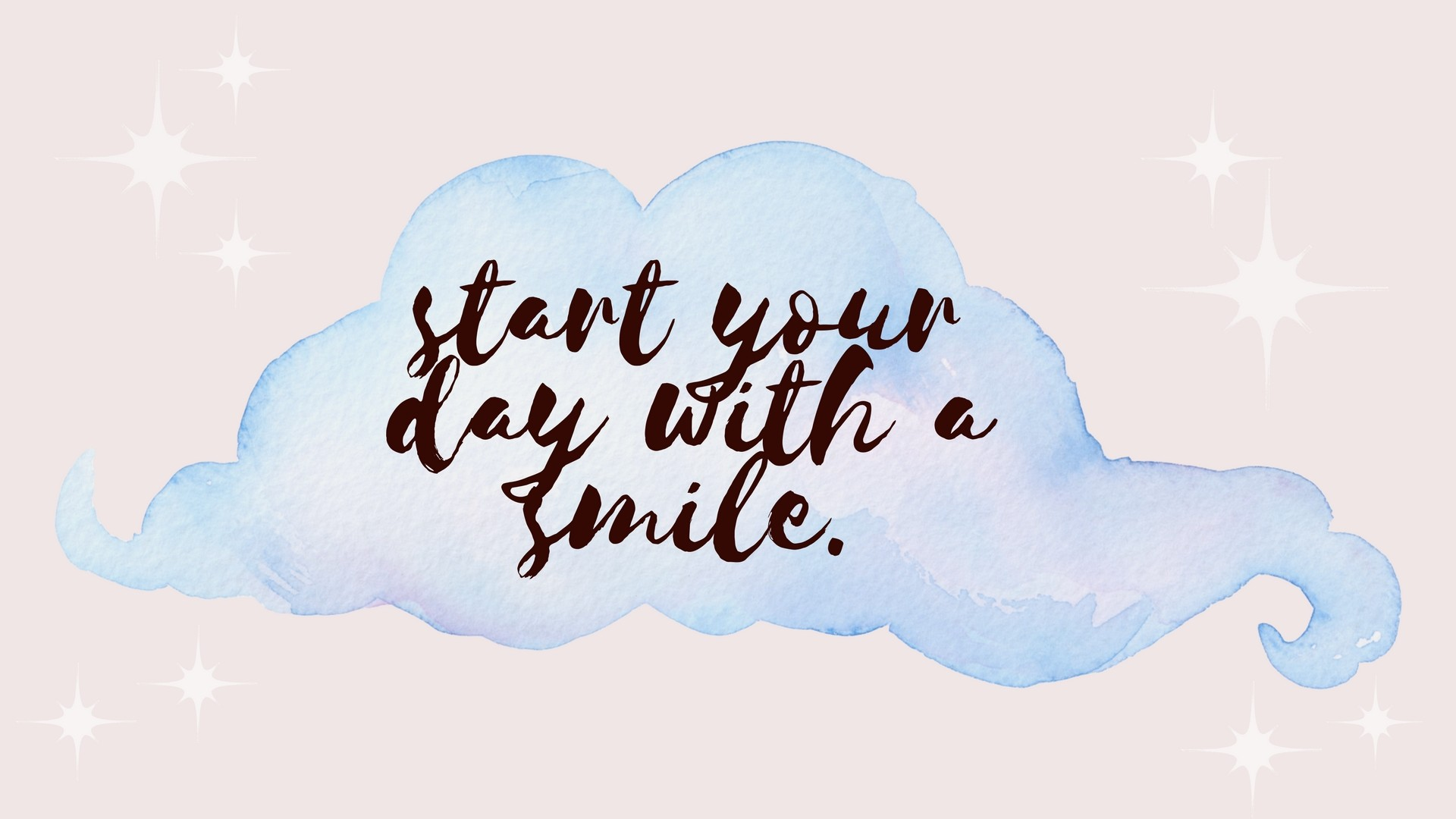 1920x1080 start your day with a smile desktop wallpaper