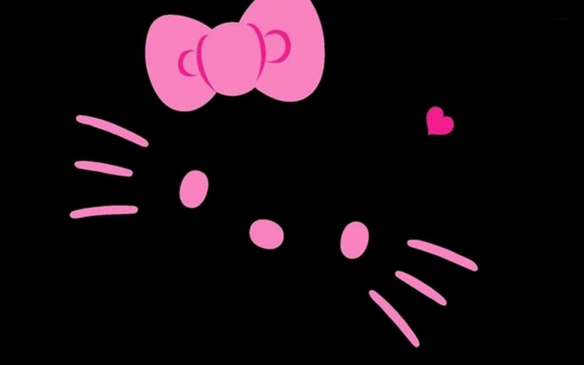 1920x1200 Hello Kitty Black Wallpaper