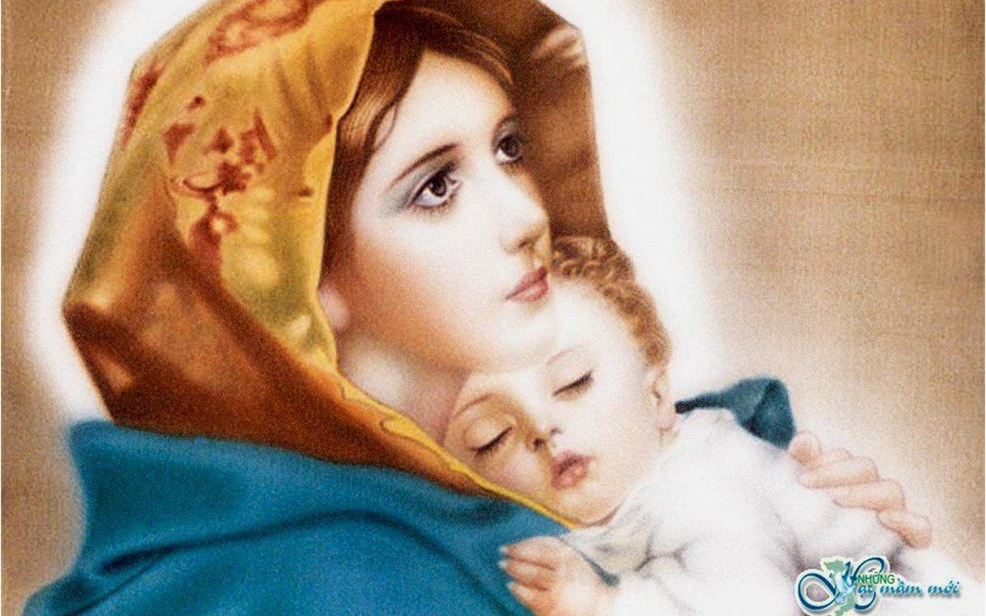 1920x1200 OUR SWEET MOTHER MARY TO ALL MOTHERS IN THE S DAY WALLPAPER