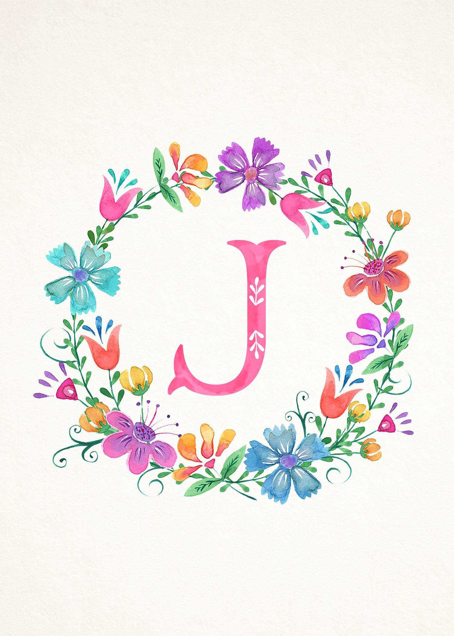1500x2100 Art Drawings, Monogram Wreath, H Monogram, Monogram Wallpaper, Floral  Letters, Alphabet