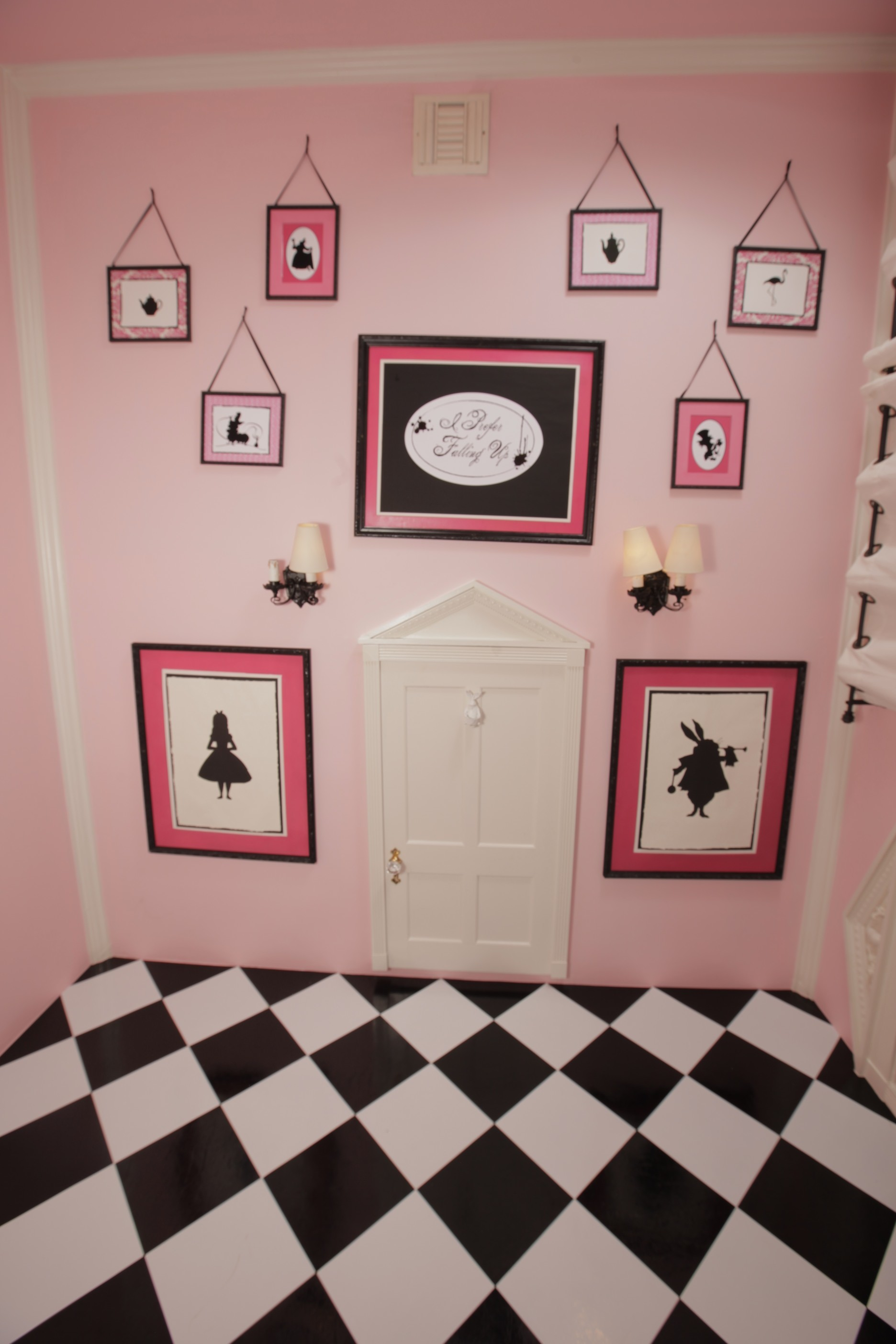 1872x2808 This is our pink Alice in Wonderland room. It made for a very unique nursary