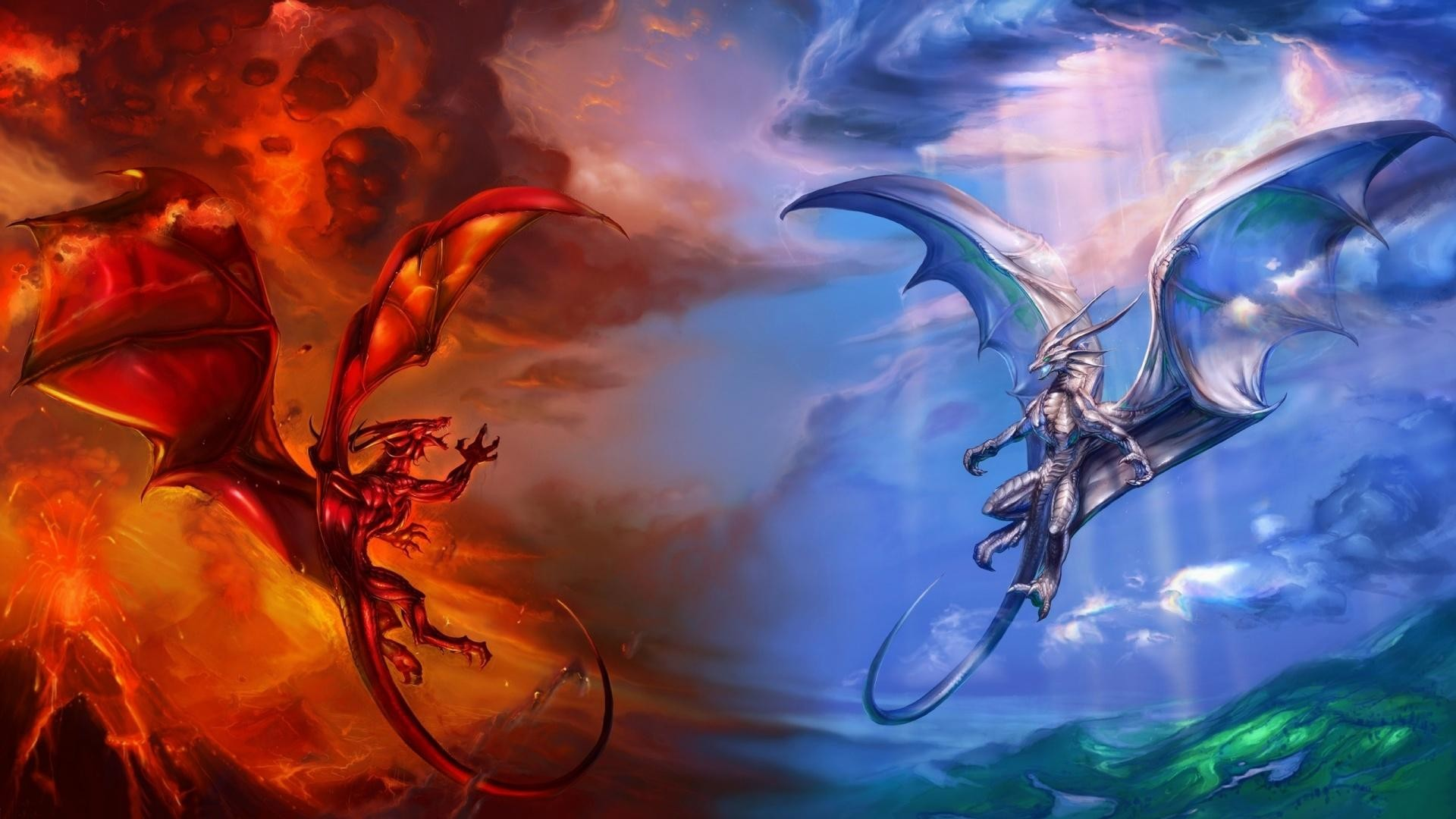 1920x1080 wallpaper.wiki-heaven-and-hell-dragons--PIC-