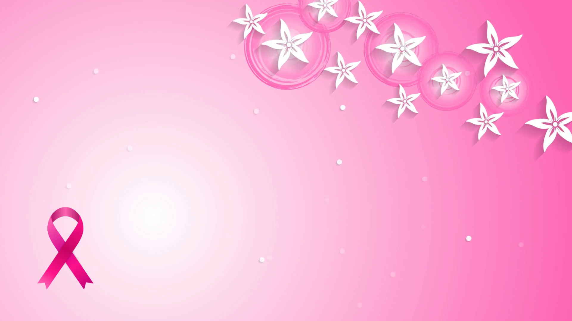1920x1080 Flowers pink design and breast cancer awareness ribbon. Video animation HD   Motion Background - VideoBlocks