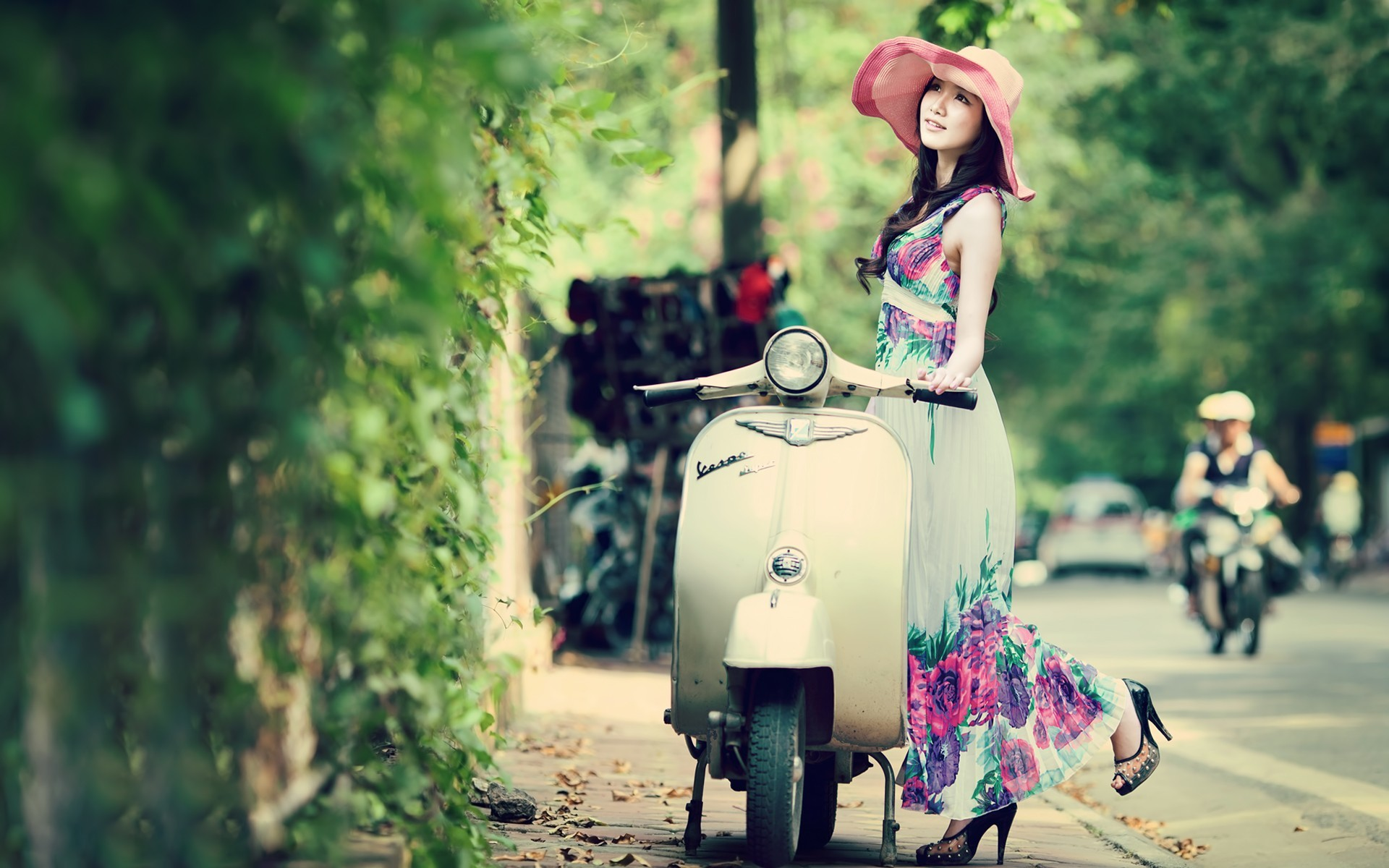 1920x1200 Beautiful Asian Model Spring Colors wallpapers | Beautiful Asian Model .
