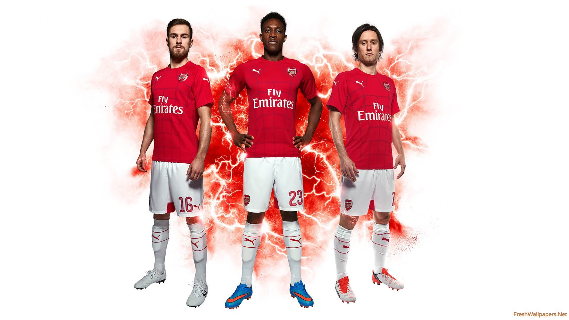 1920x1080 Arsenal FC 2015-16 Pre-Match Puma Shirt wallpapers