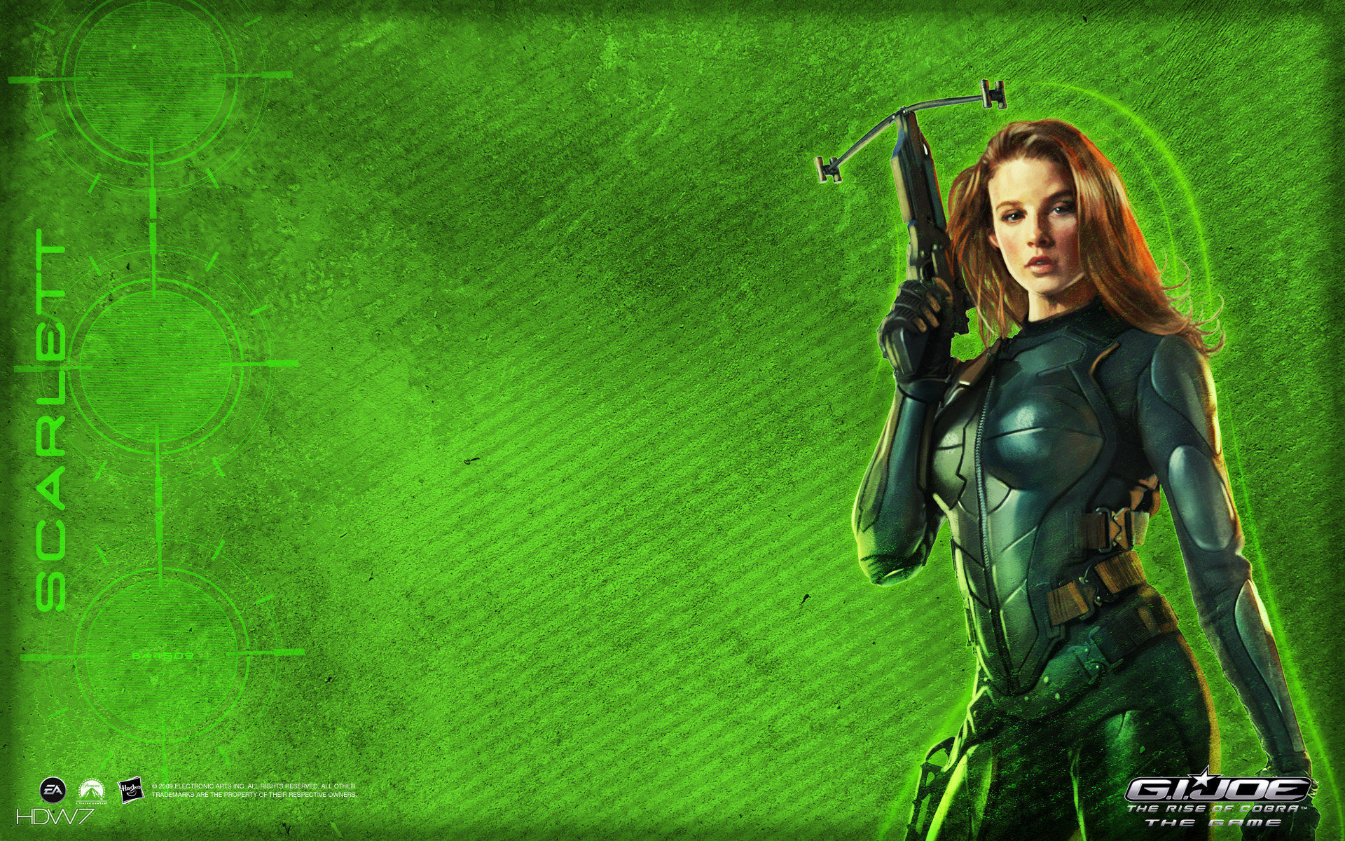 1920x1200 gi joe scarlett widescreen wallpaper