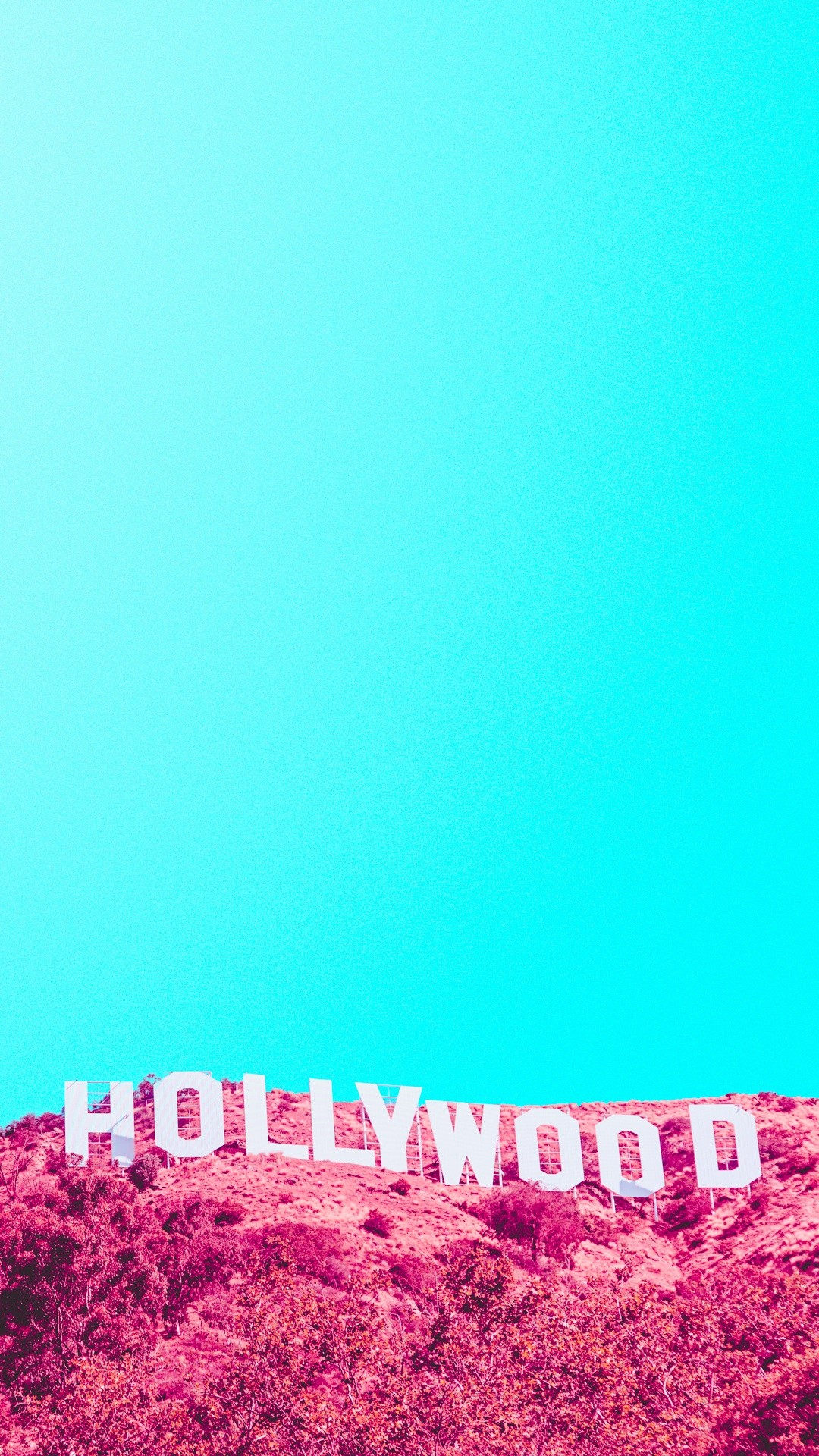 1080x1920 Hollywood Hills Sign Infrared iPhone 6 Plus HD Wallpaper