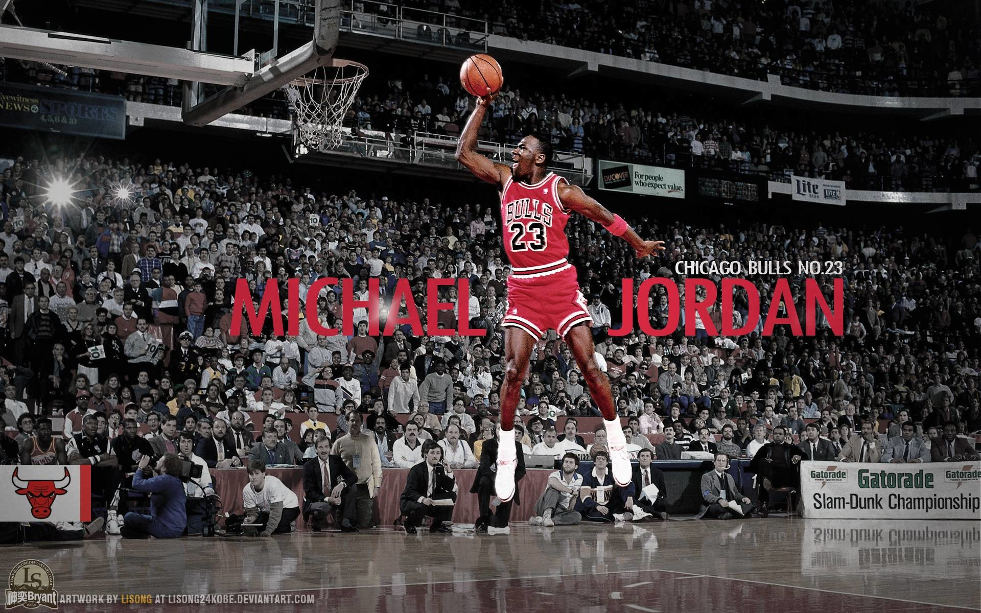 1920x1200 Michael Jordan Dunks From The Free Throw Line