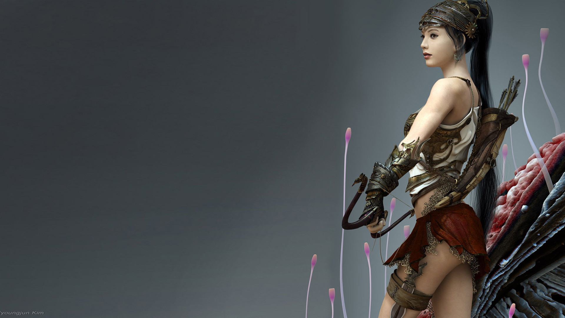 1920x1080 Fantasy Female Warrior wallpaper
