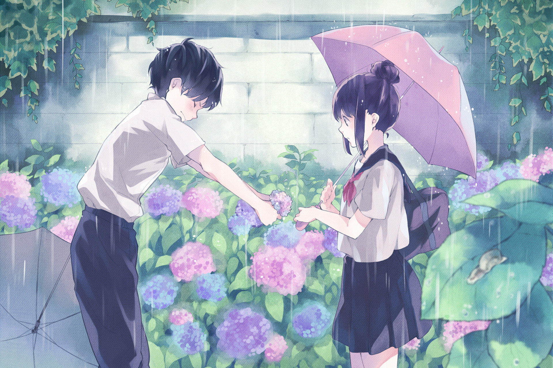 1920x1280 Hd Cute Anime Couple Background Desktop Wallpapers Cool Smart Phone Photos Download Free