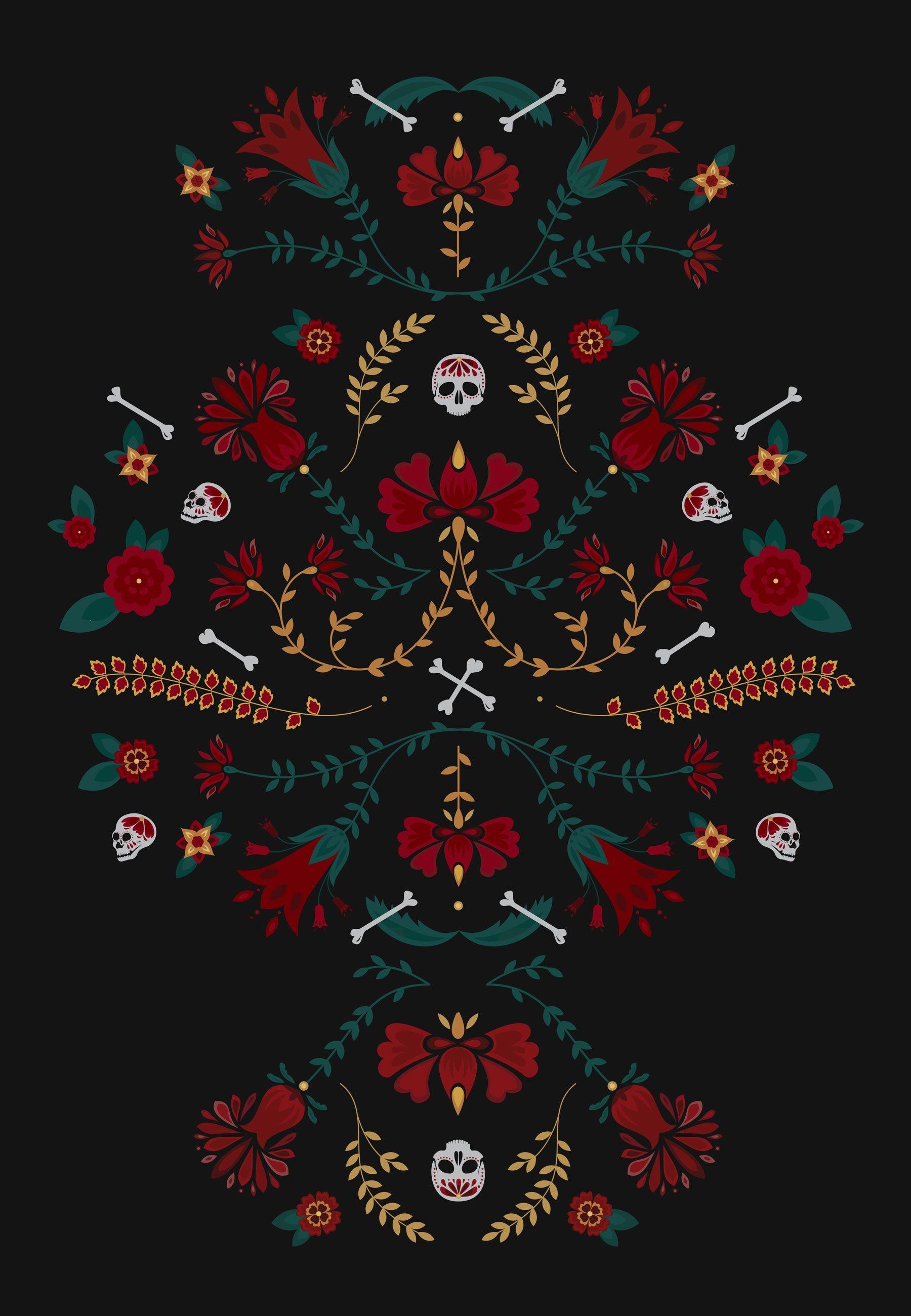 Halloween Skeleton Wallpaper.Sugar Skull Wallpaper For Iphone 62 Images