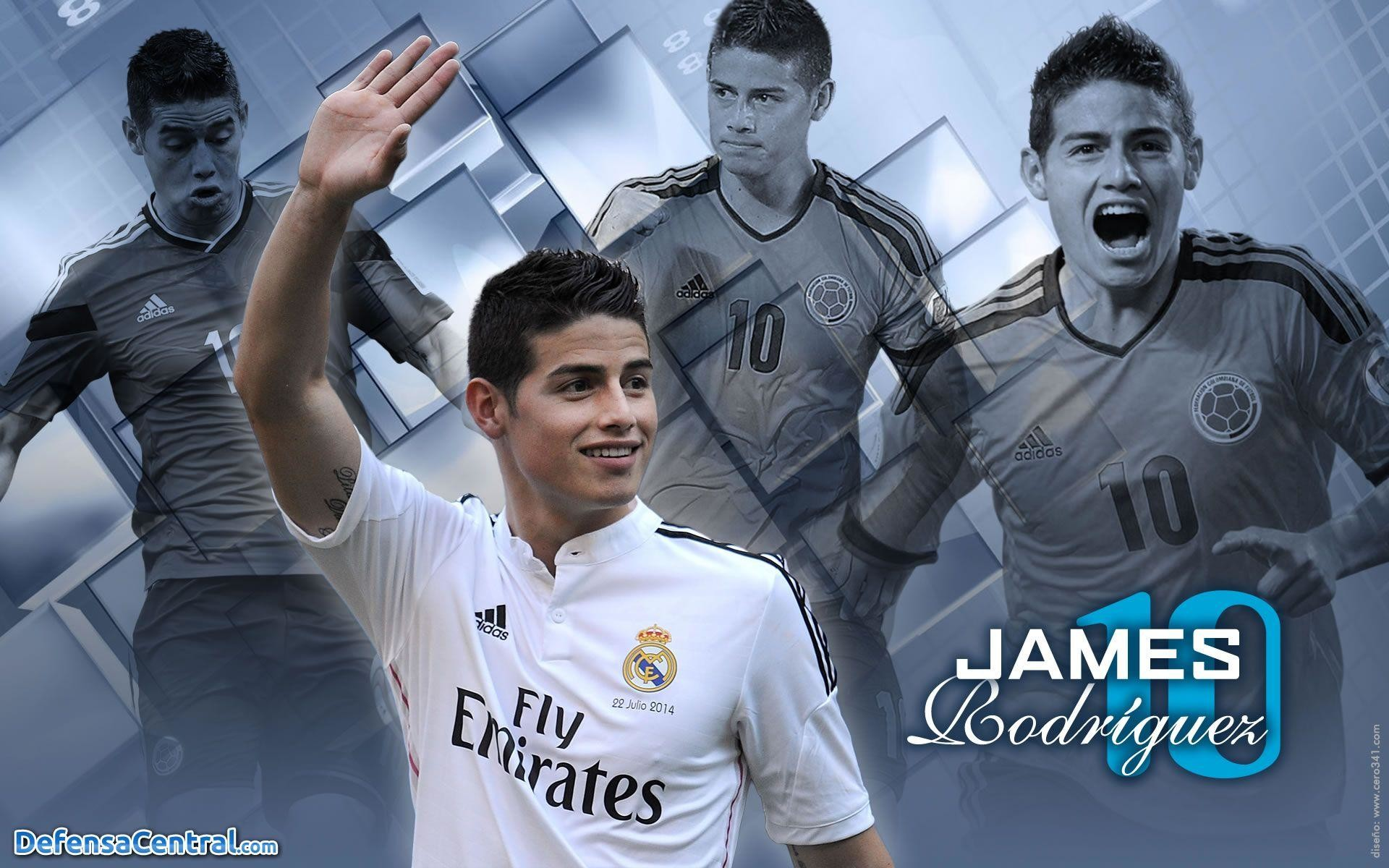 1920x1200 James Rodriguez Real Madrid and Colombia team wallpaper for .