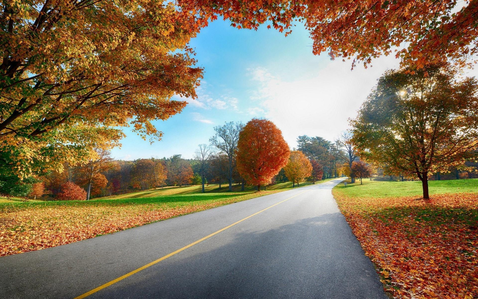 1920x1200 Country Road Autumn Desktop Wallpapers - New HD Wallpapers