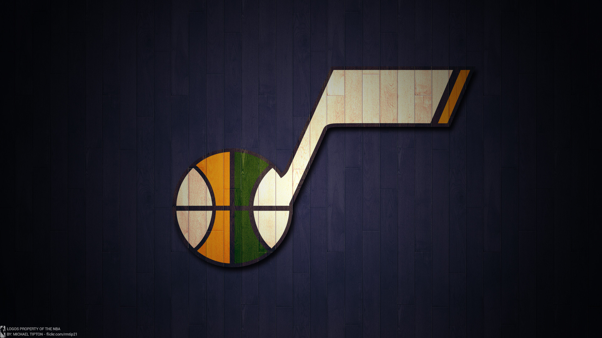 b4dfdf2bed3a NBA 2017 Utah Jazz hardwood logo desktop wallpaper .