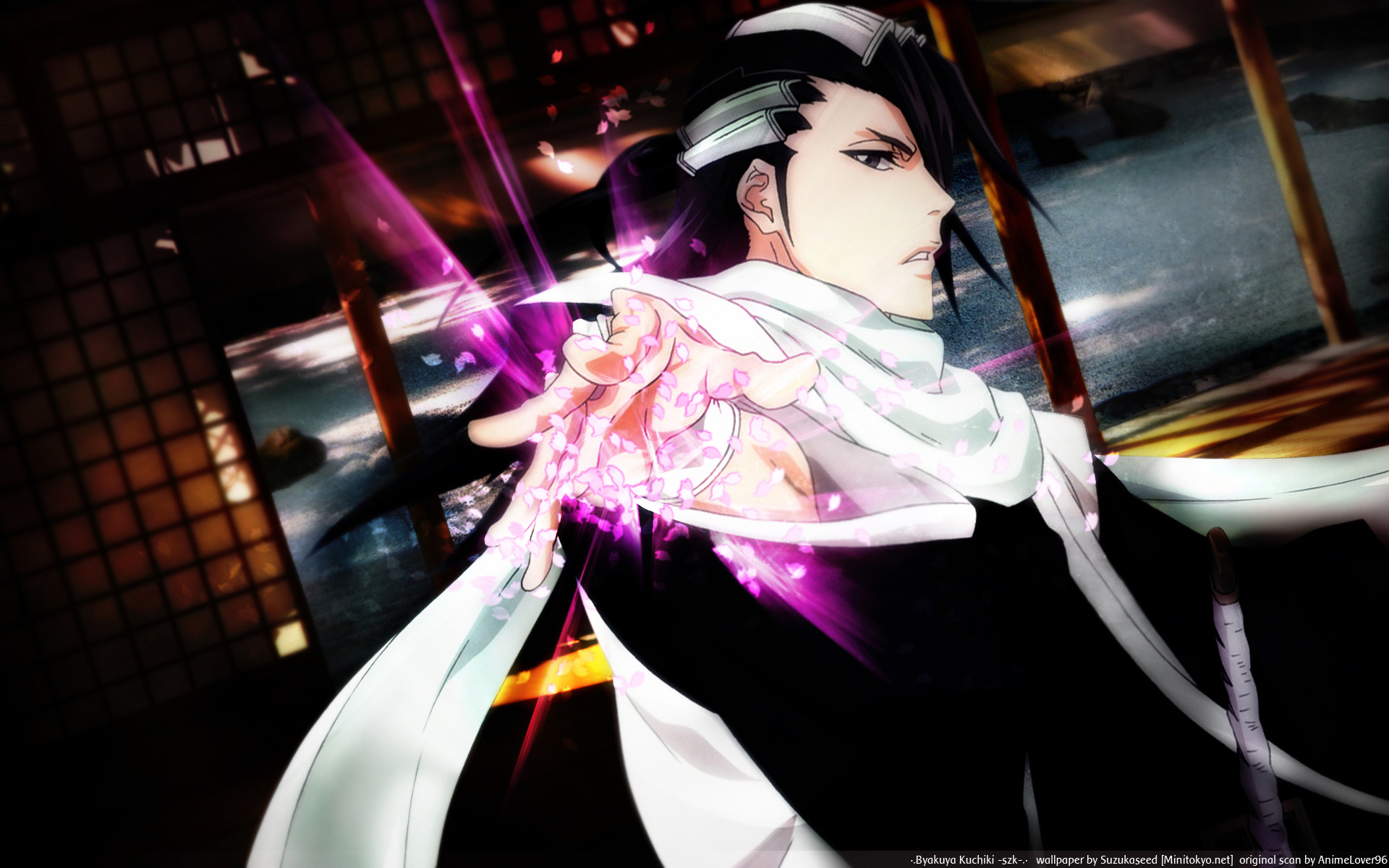 1920x1200 Tags: Anime, Tite Kubo, BLEACH, Kuchiki Byakuya, Wallpaper