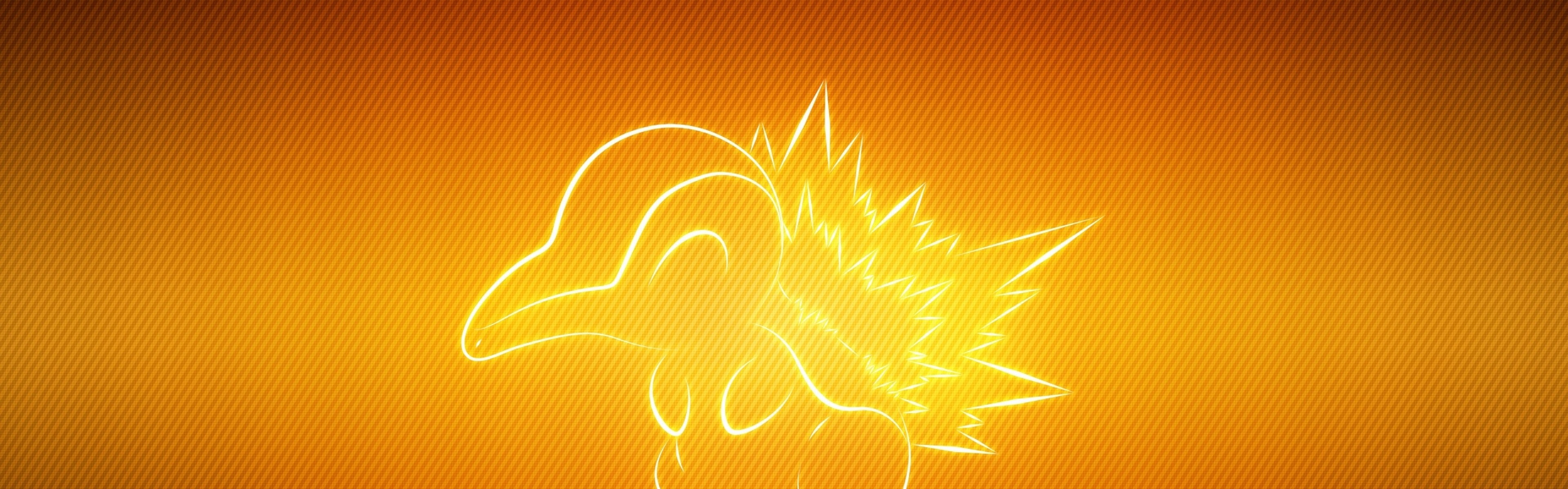 3840x1200  Wallpaper pokemon, animal, cyndaquil