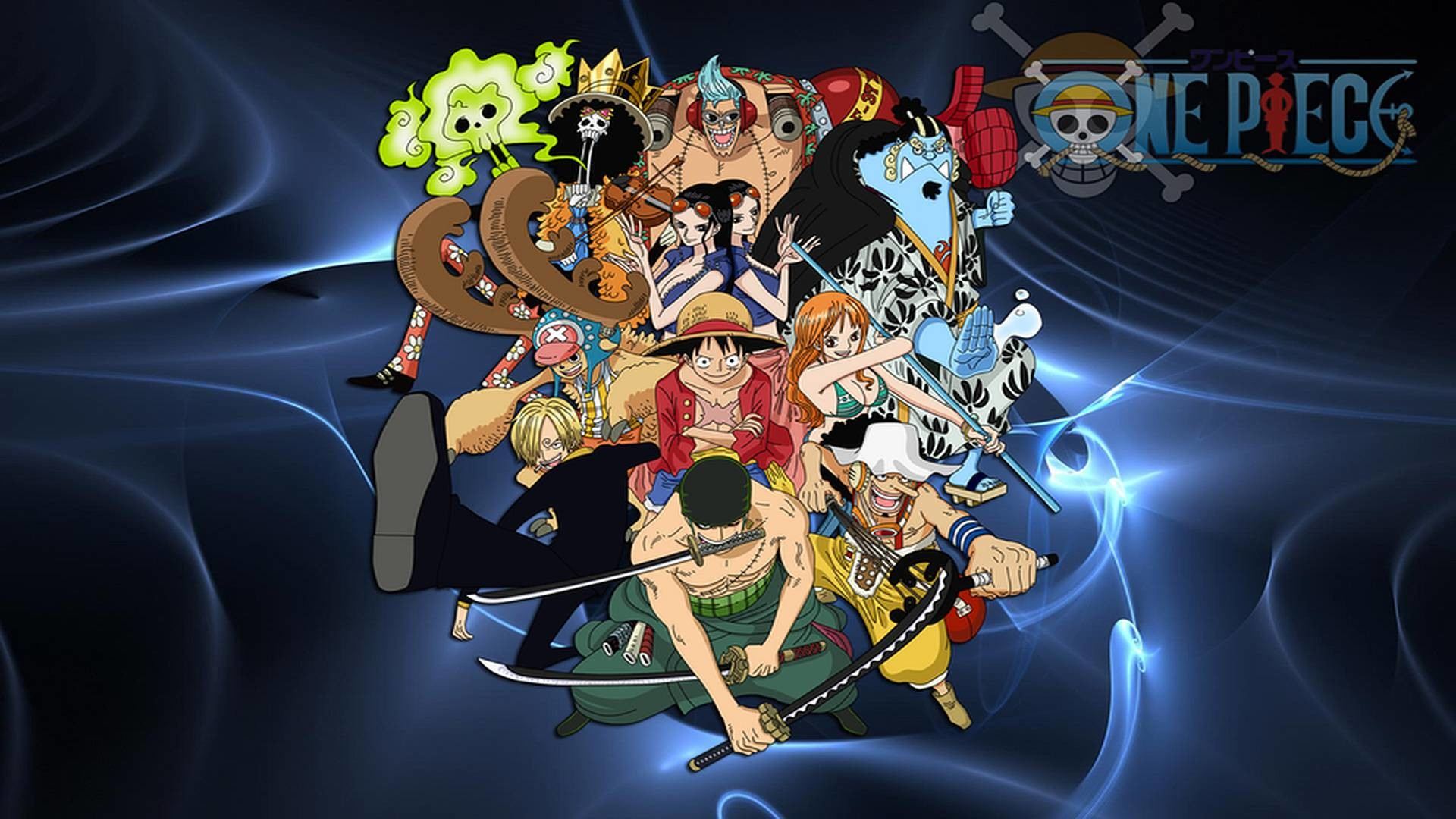 1920x1080 One Piece Luffy And Crew Background For Computer | Cartoons Images