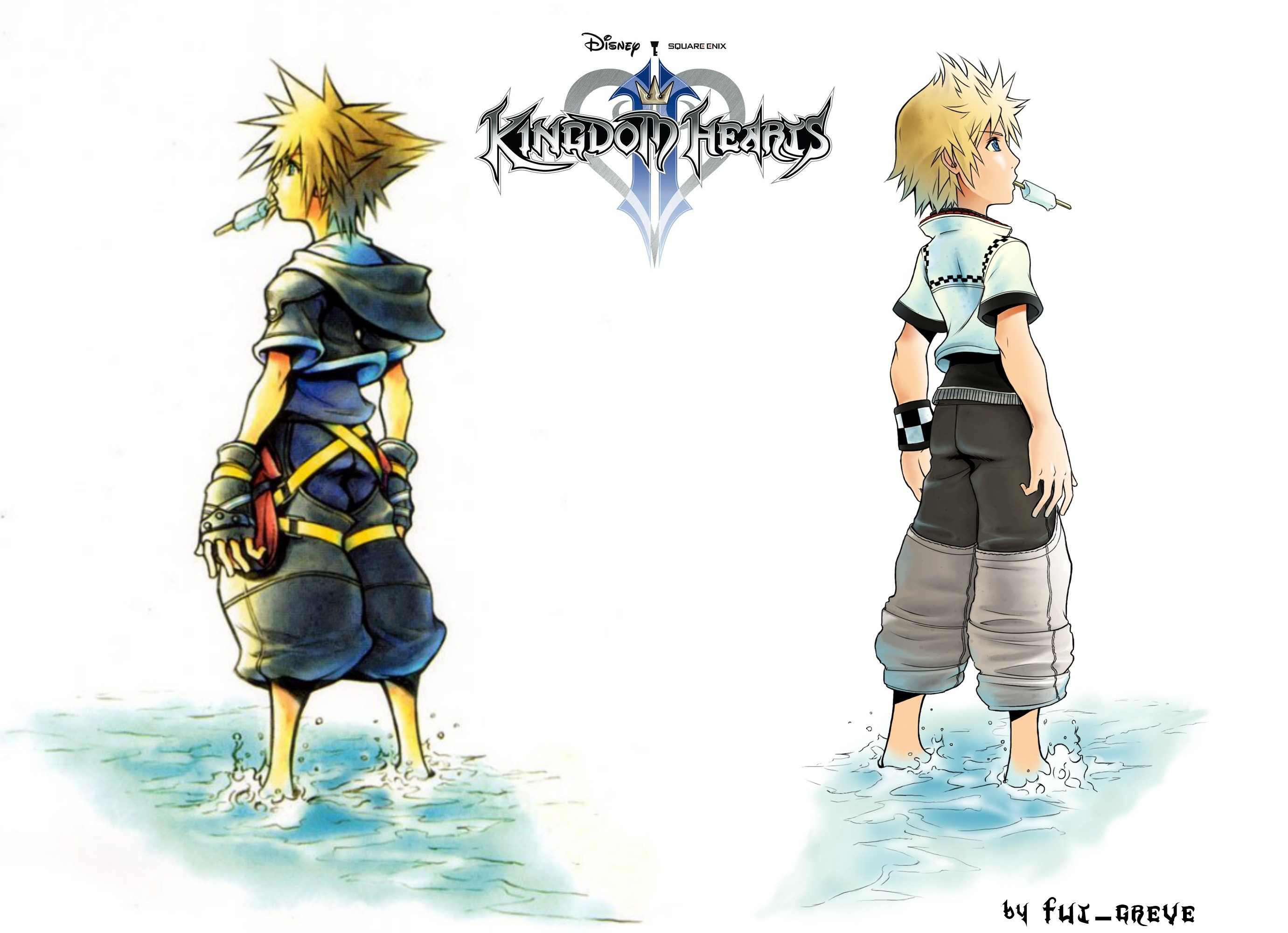 2761x2000 kingdom hearts 2 Sora and Roxas wallpaper by fut-greve on DeviantArt