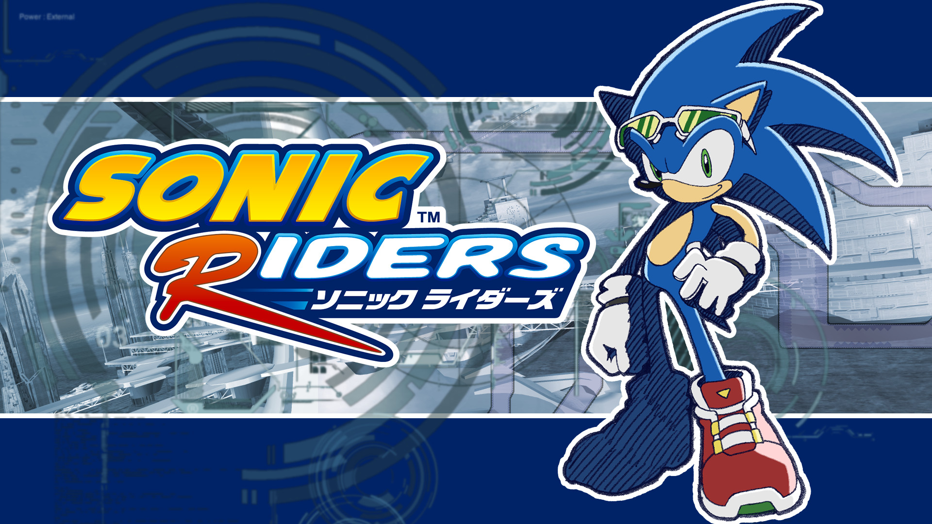 1920x1080 ... supersonicsponge Sonic Riders Fan Made Wallpaper - Sonic by  supersonicsponge