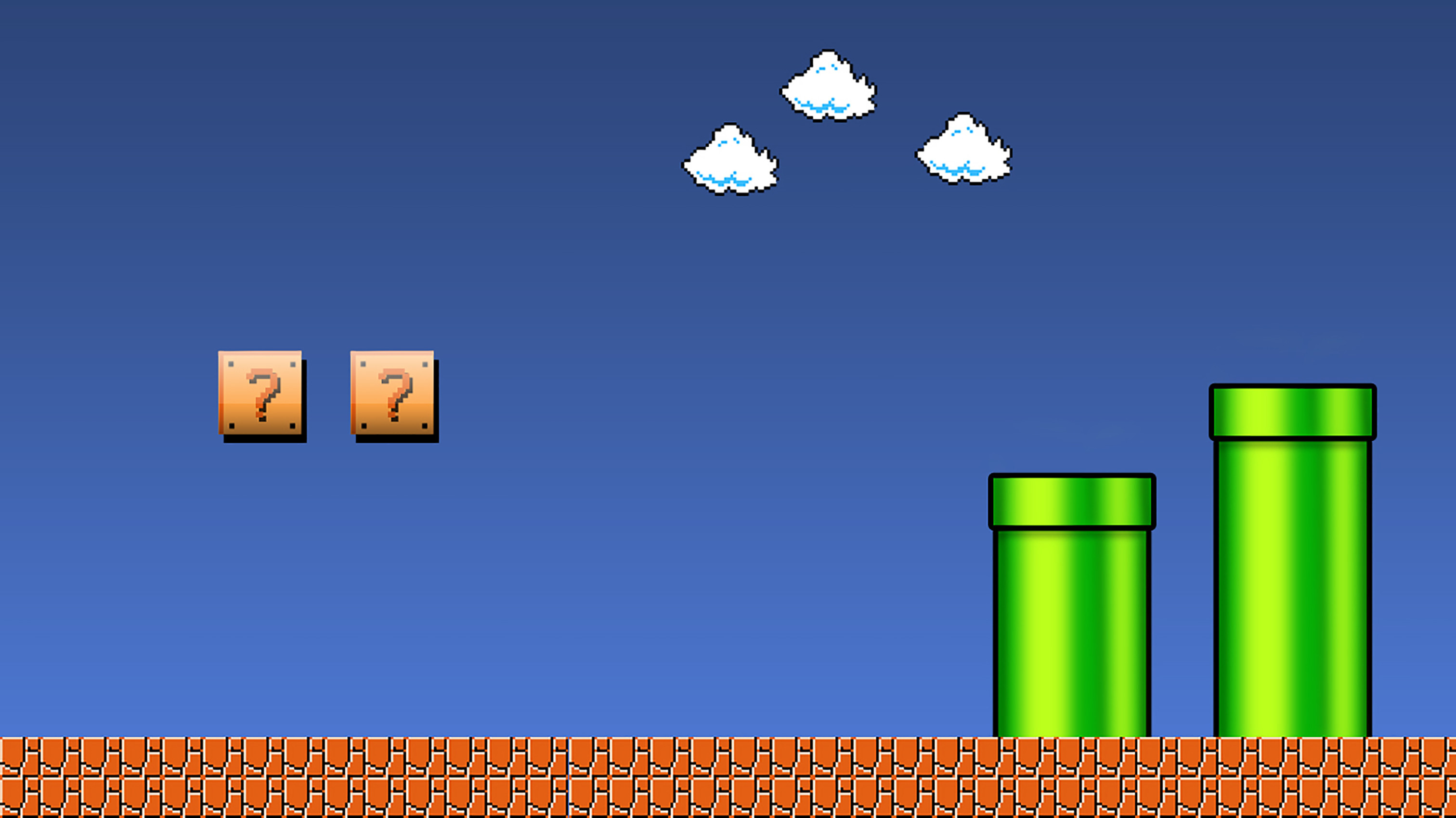 3024x1700 Super Mario Brothers Wallpaper created in Photoshop