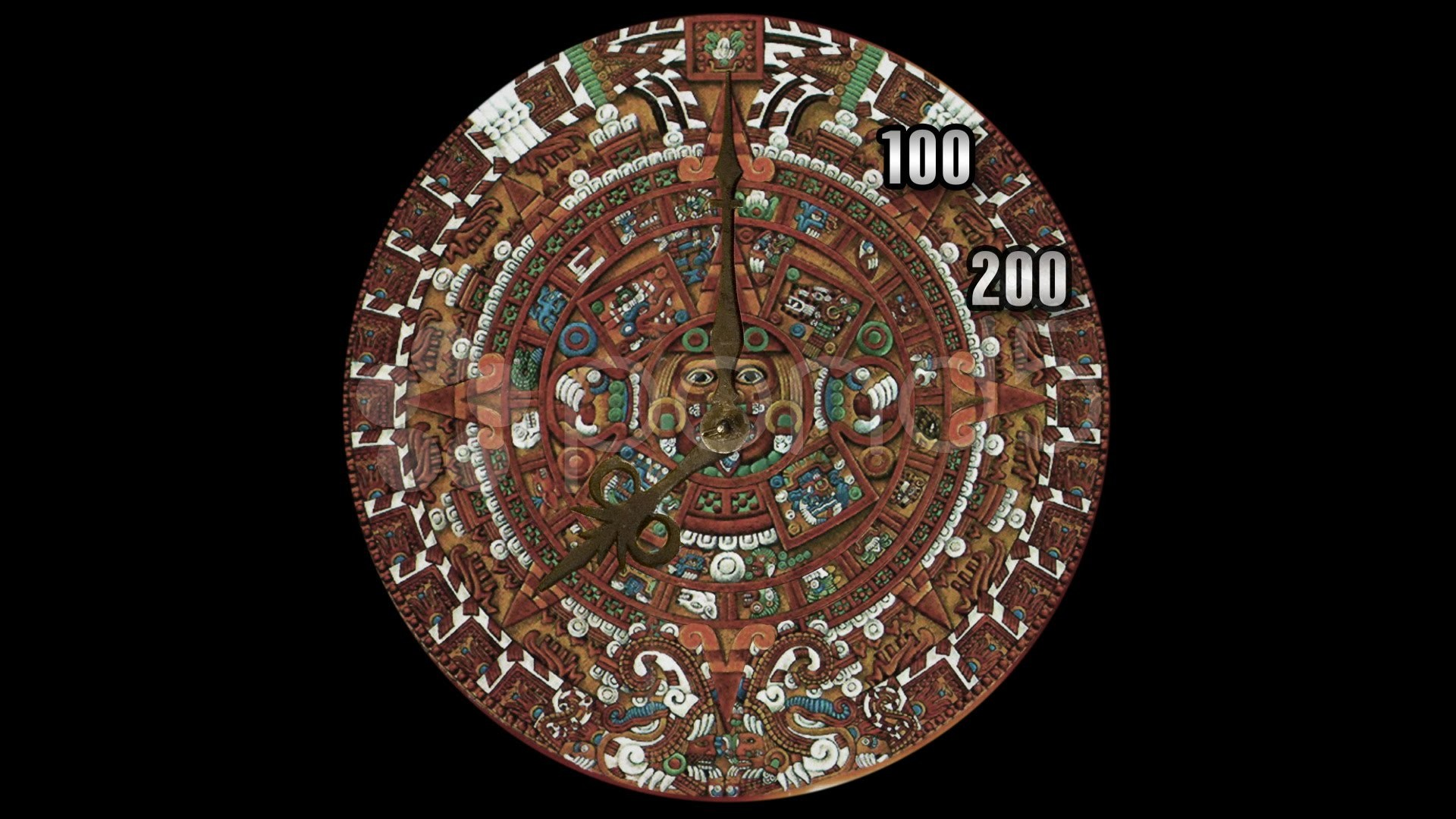 1920x1080 Mayan Calendar Clock Countdown To 2012 (Technically Aztec Not Mayan). Stock  Footage - YouTube
