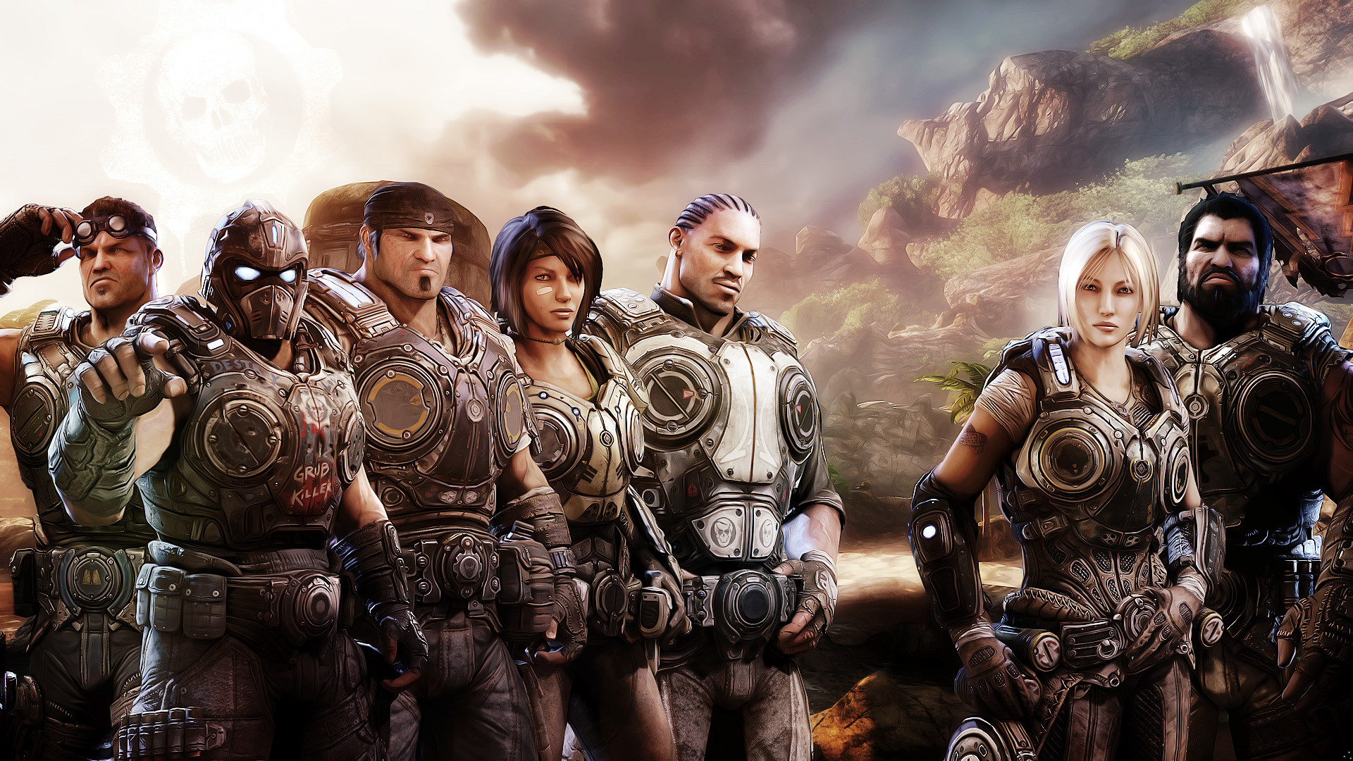1920x1080 Tags: Game Xbox Gears. Description: Download Gears of War 3 Xbox Game  wallpaper ...