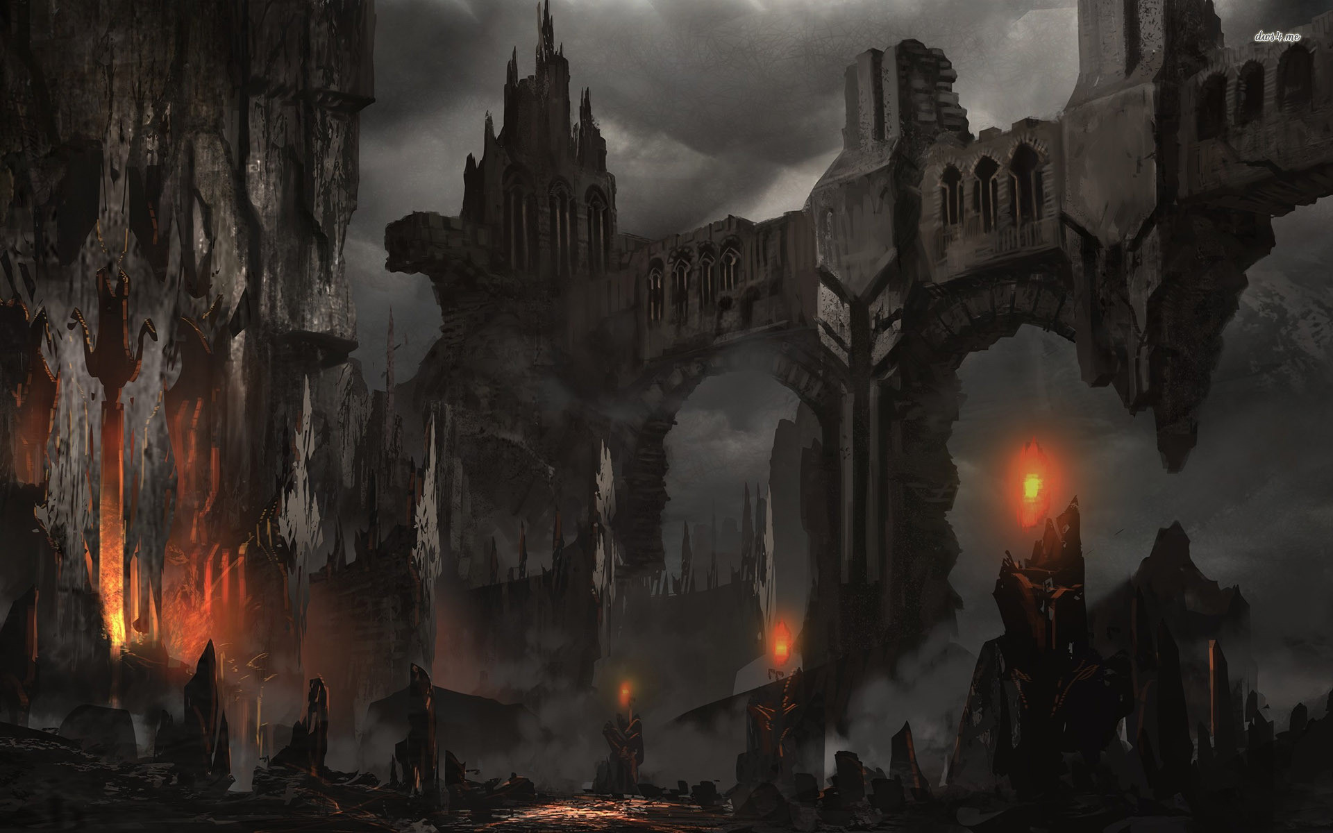1920x1200 Fantasy Dark Castle Wallpaper Hd Background Wallpaper 16 HD Wallpapers