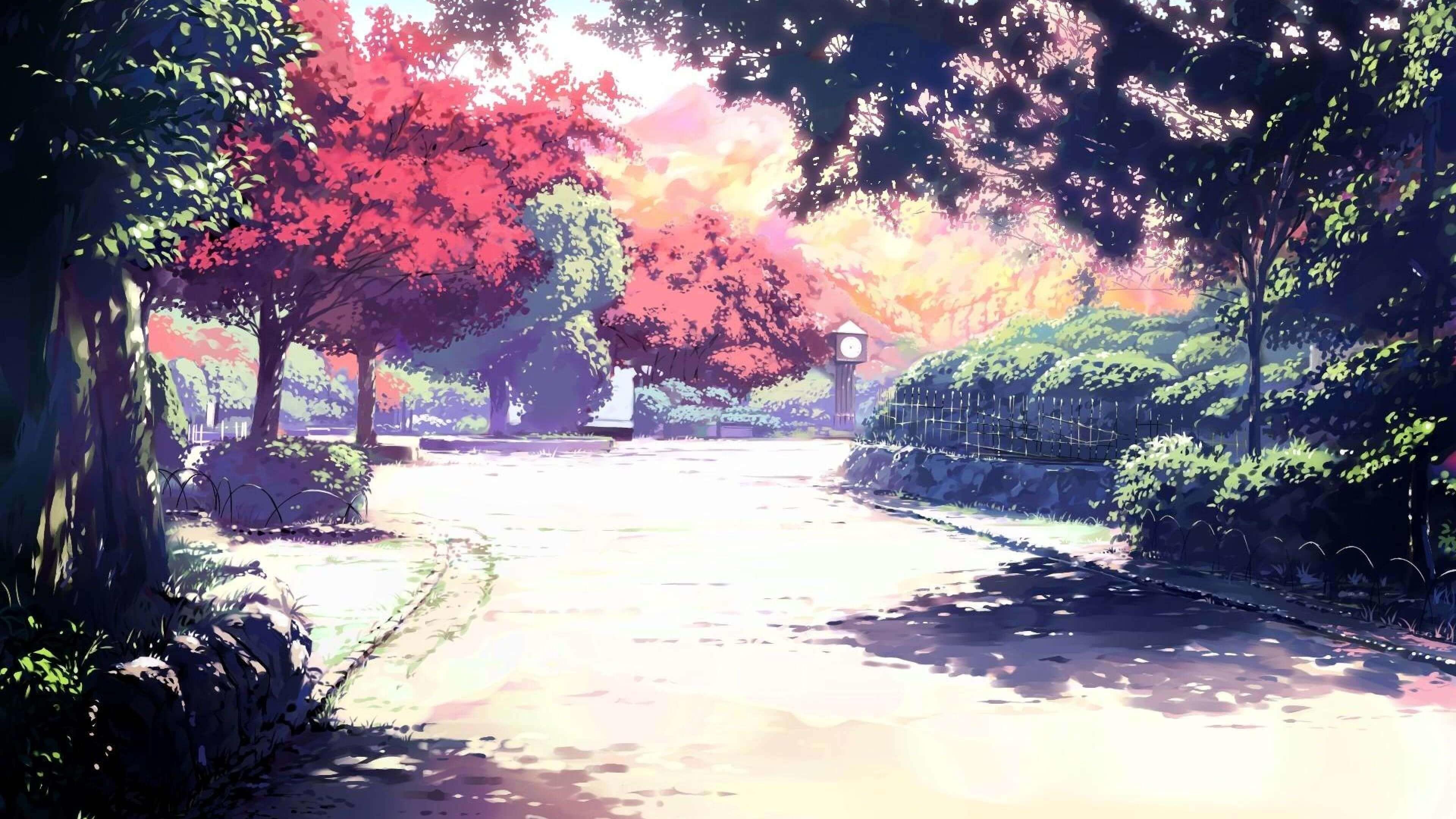 1920x1080 Anime Scenery Boy Under Tree Wallpapers