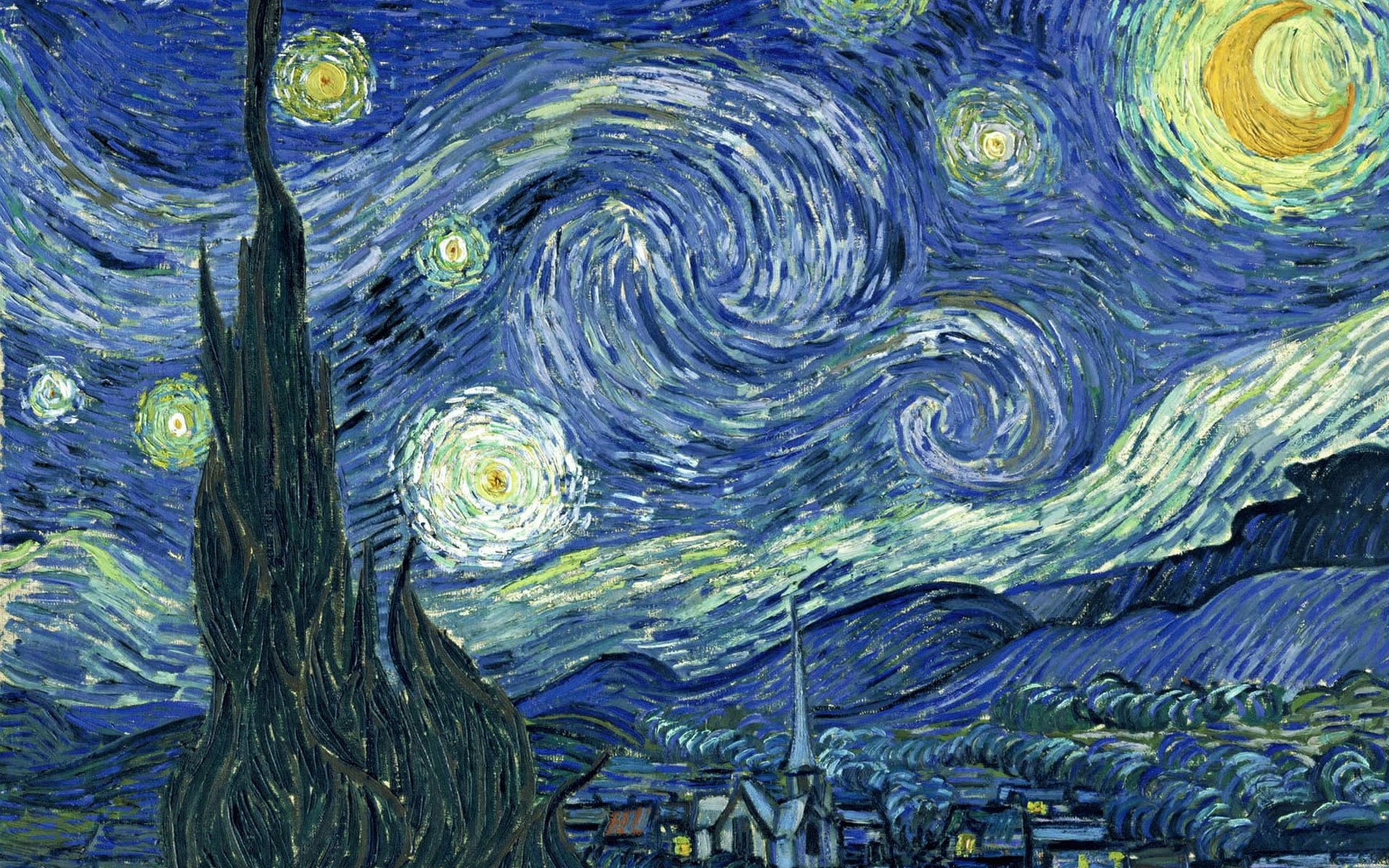 1920x1200 Wallpaper Vincent Van Gogh Starry Night
