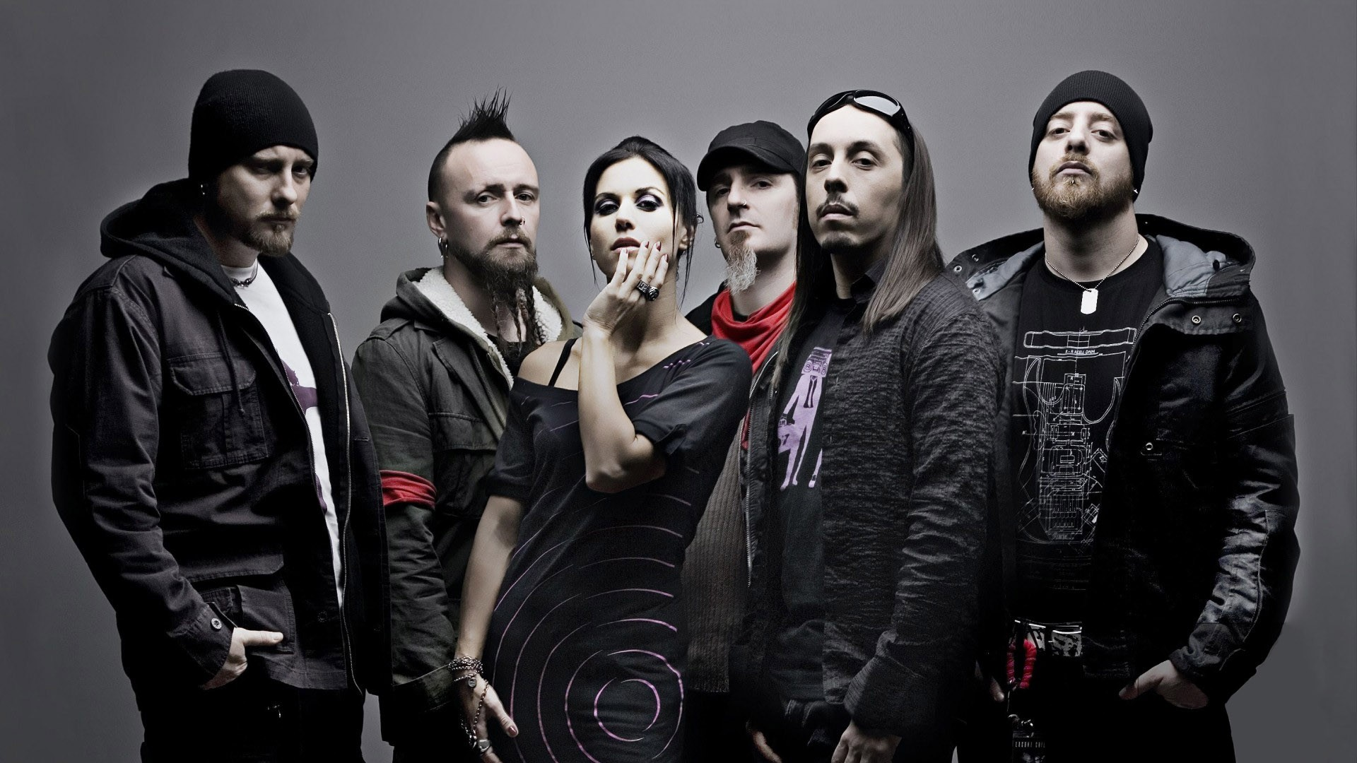 1920x1080 Download Wallpaper  lacuna coil, dress, iroquois, clothes, glasses  Full HD 1080p HD Background