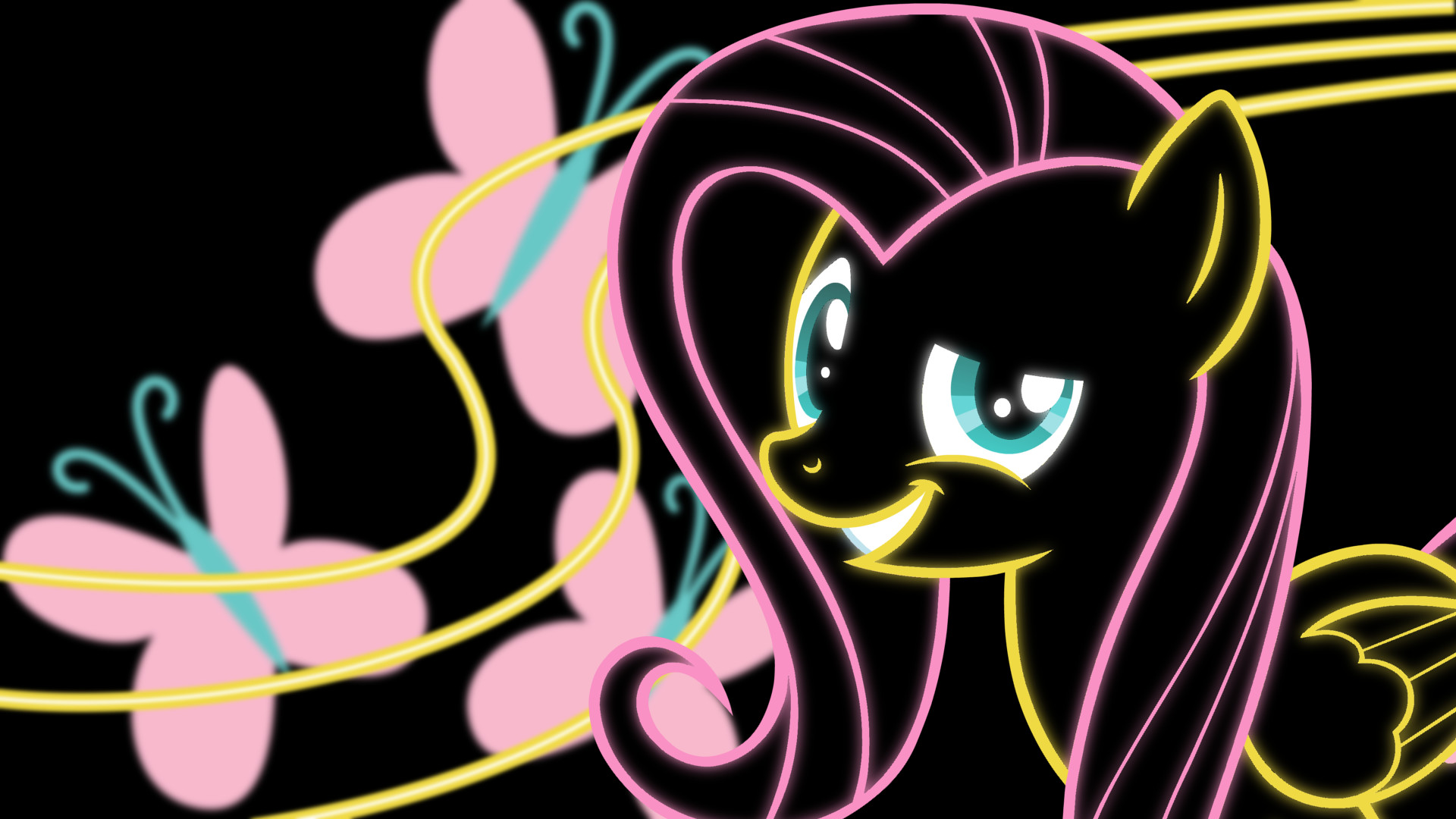 1920x1080 Fluttershy Neon Wallpaper by My Little Pony Rarity Wallpaper Neon
