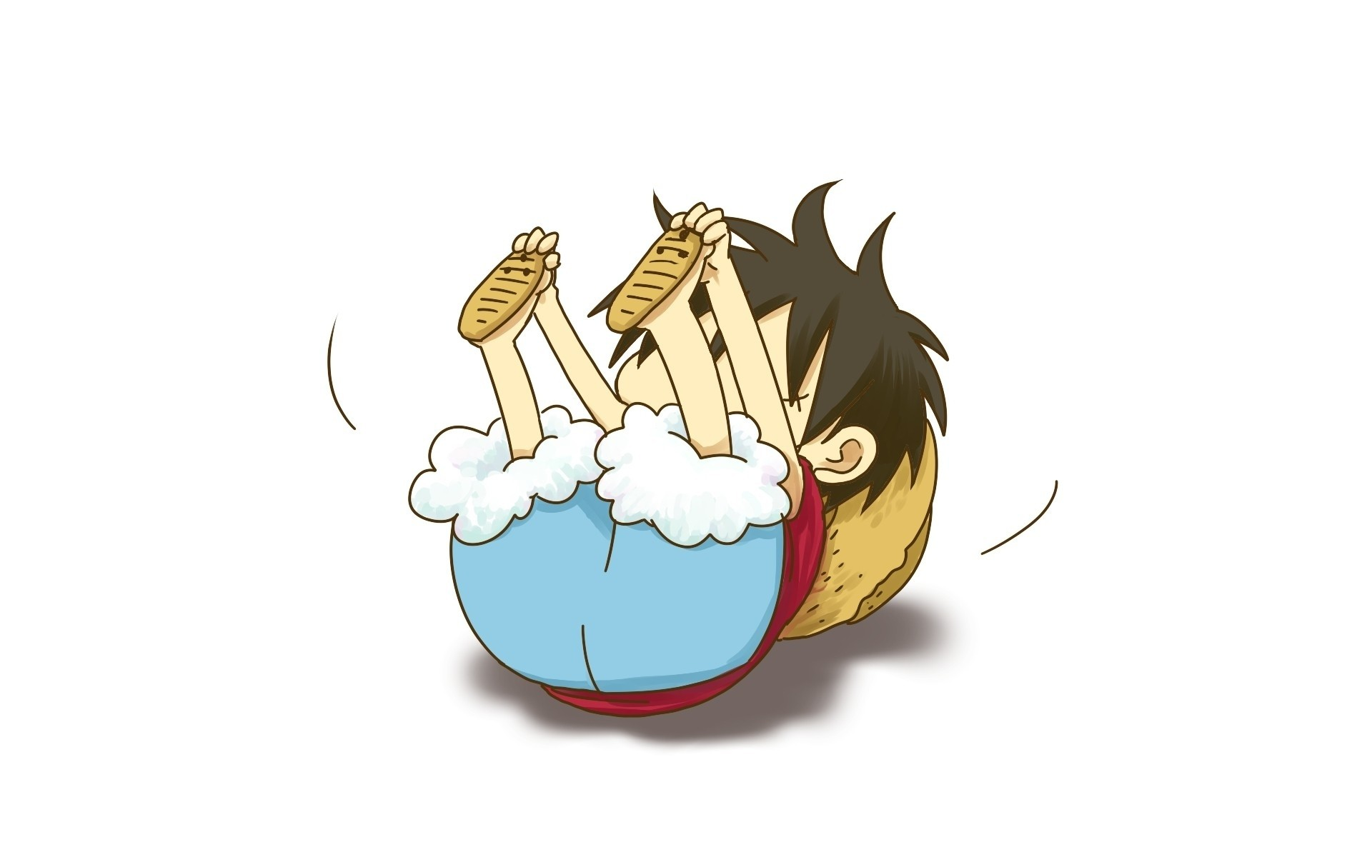 1920x1200 One Piece Chibi Luffy Wallpaper