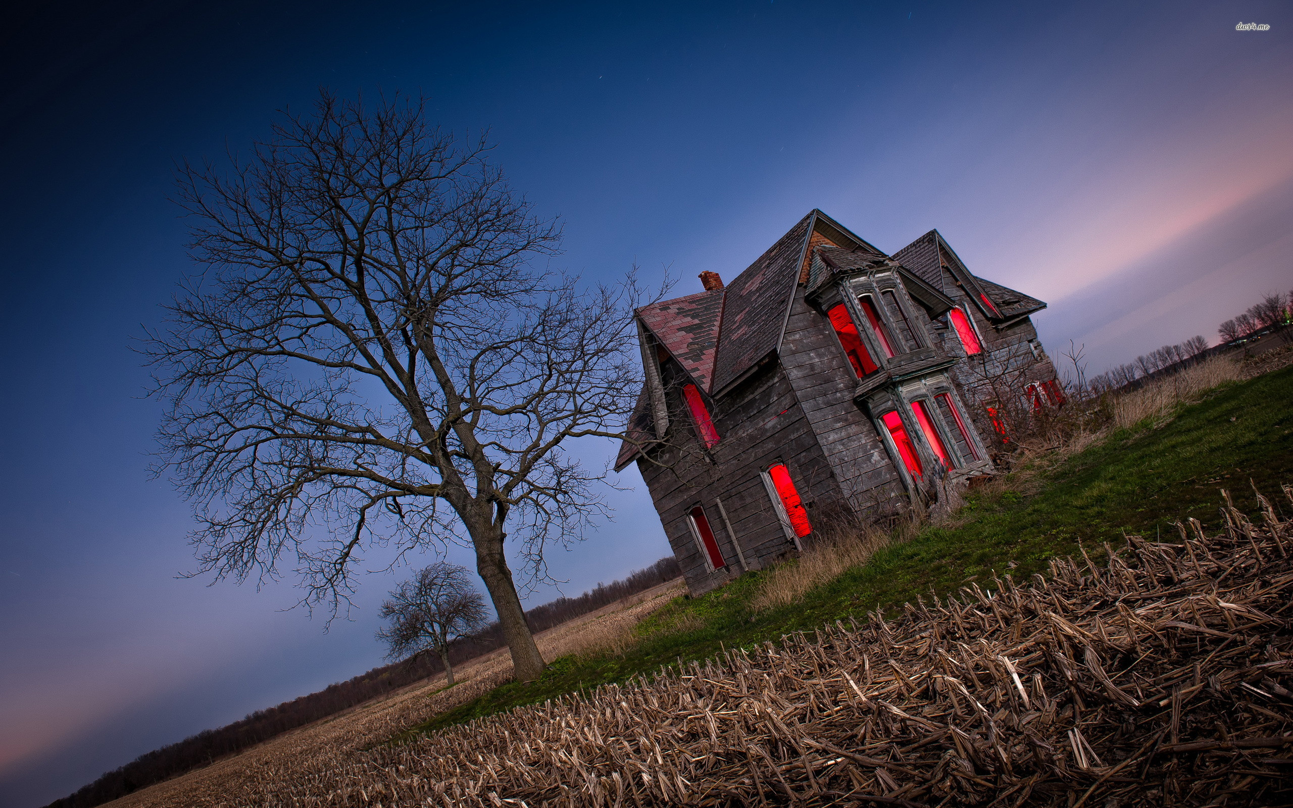 2560x1600 ... Haunted house wallpaper  ...
