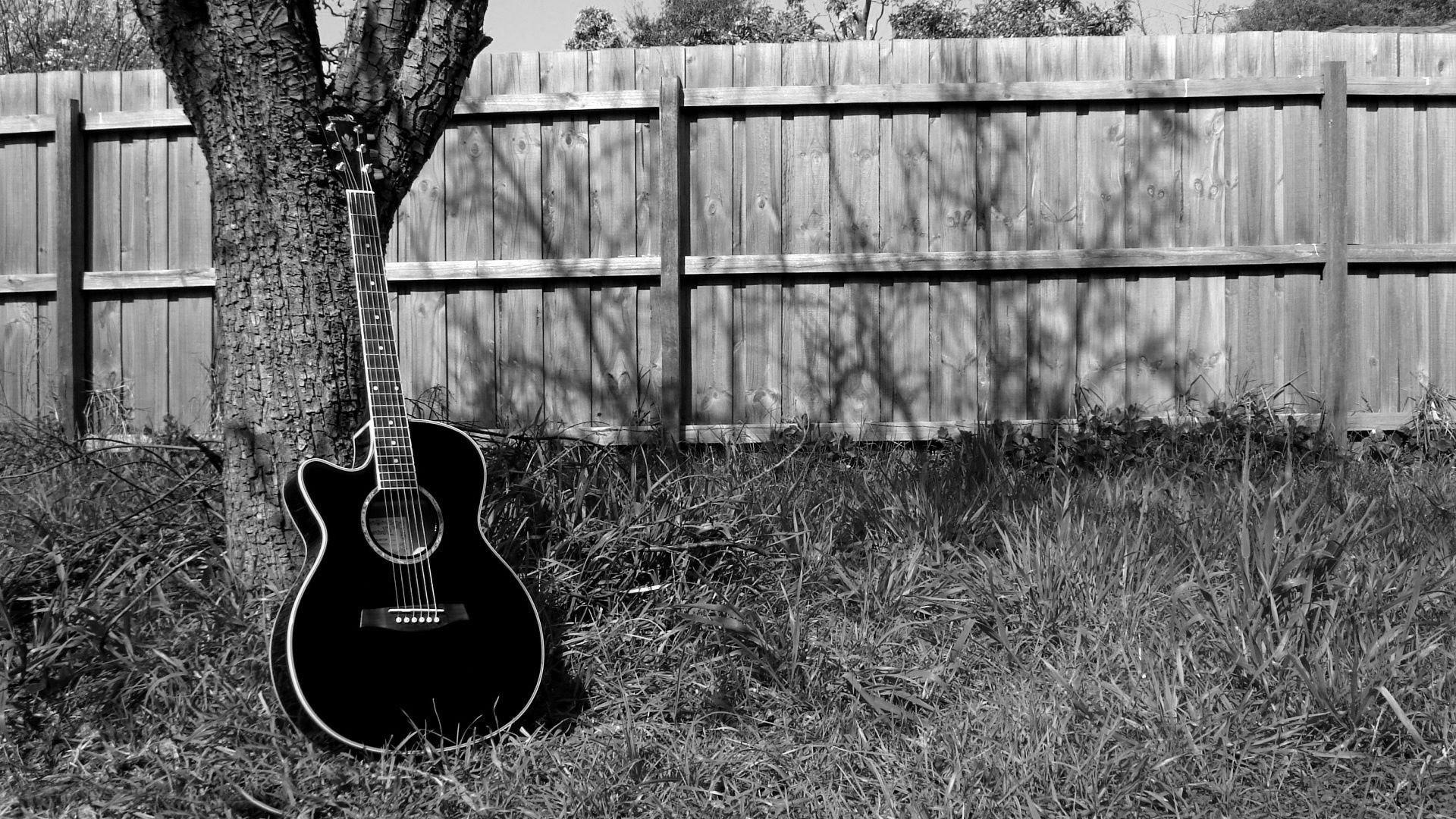 Guitar Black Background 48 Images
