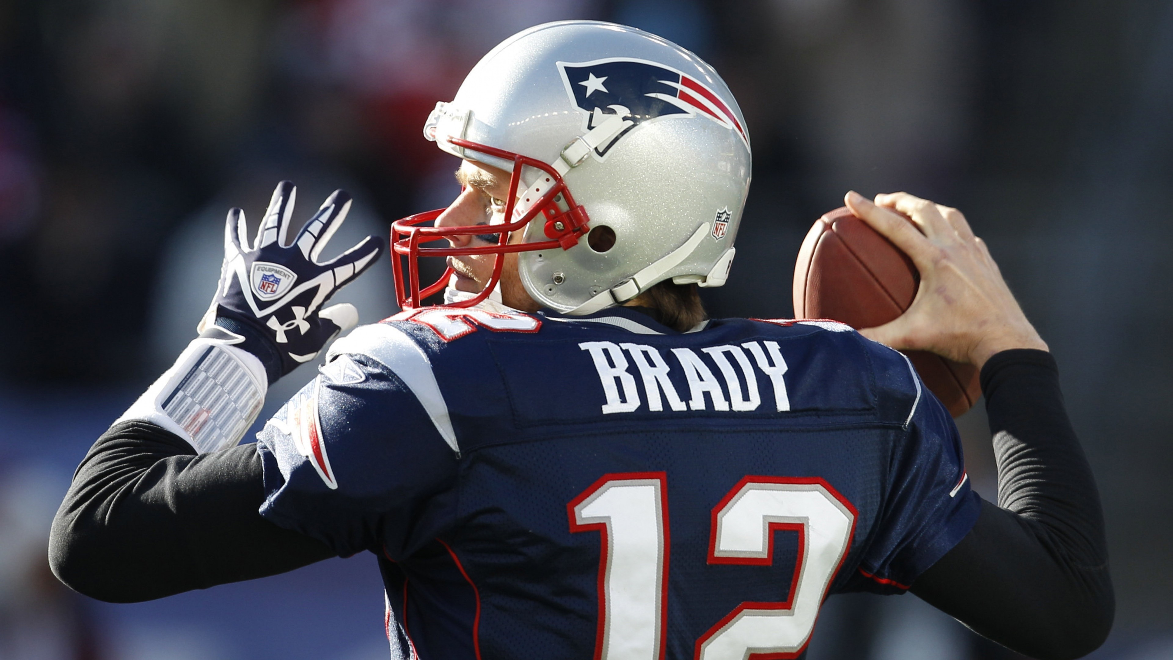 3840x2160 Preview wallpaper tom brady, new england patriots, football