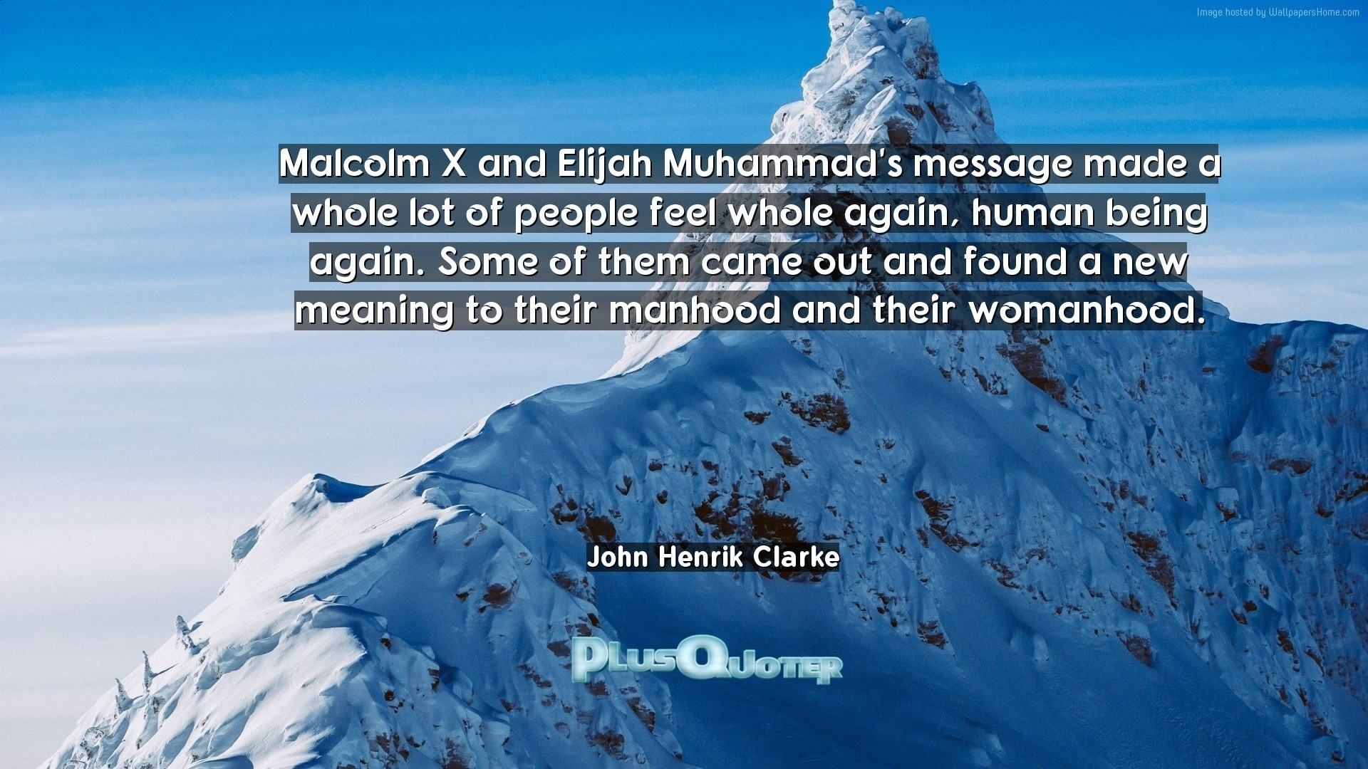"1920x1080 Download Wallpaper with inspirational Quotes- ""Malcolm X and Elijah Muhammad"