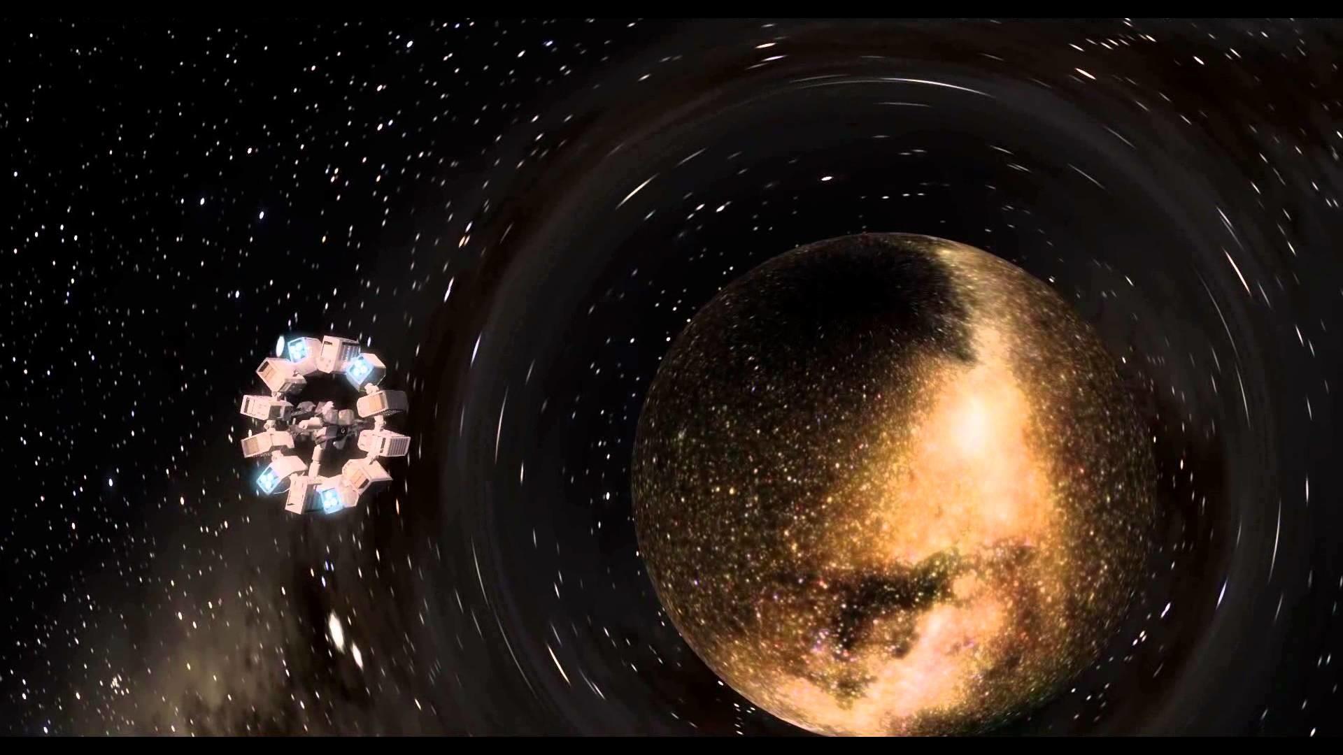 Interstellar wormhole wallpaper